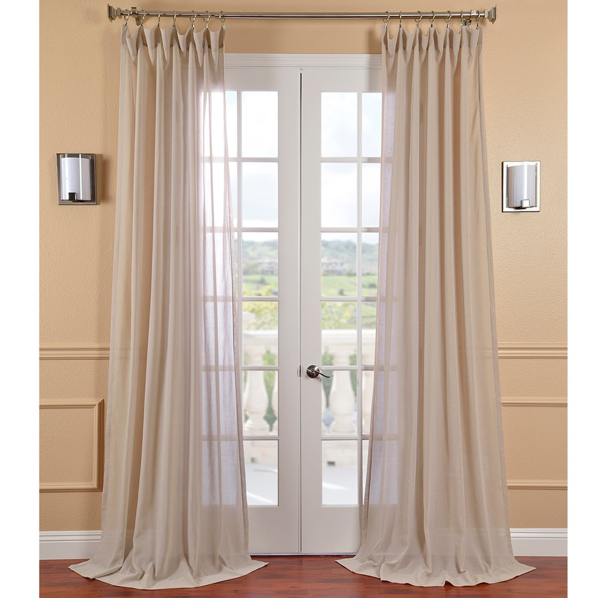grey panels karma products sheer com liteout look curtain linen pair