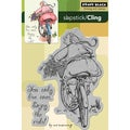 Penny Black 'Enjoy The Ride' Cling Rubber Stamp