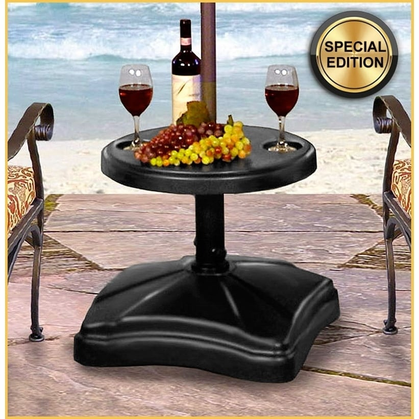 Shademobile Rolling Umbrella Base With Table Shelf   Free Shipping Today    Overstock   14669262