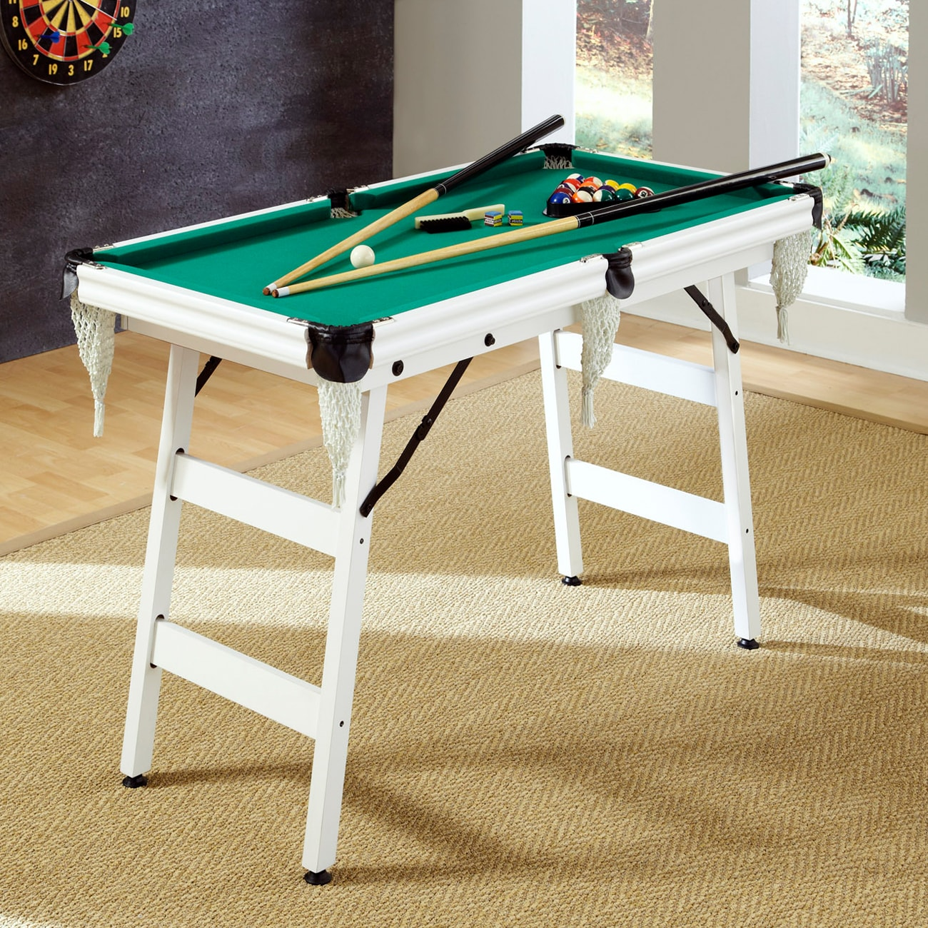 Attrayant Shop The Junior Pro 4 Foot Pool Table By Home Styles   Free Shipping Today    Overstock.com   7184126
