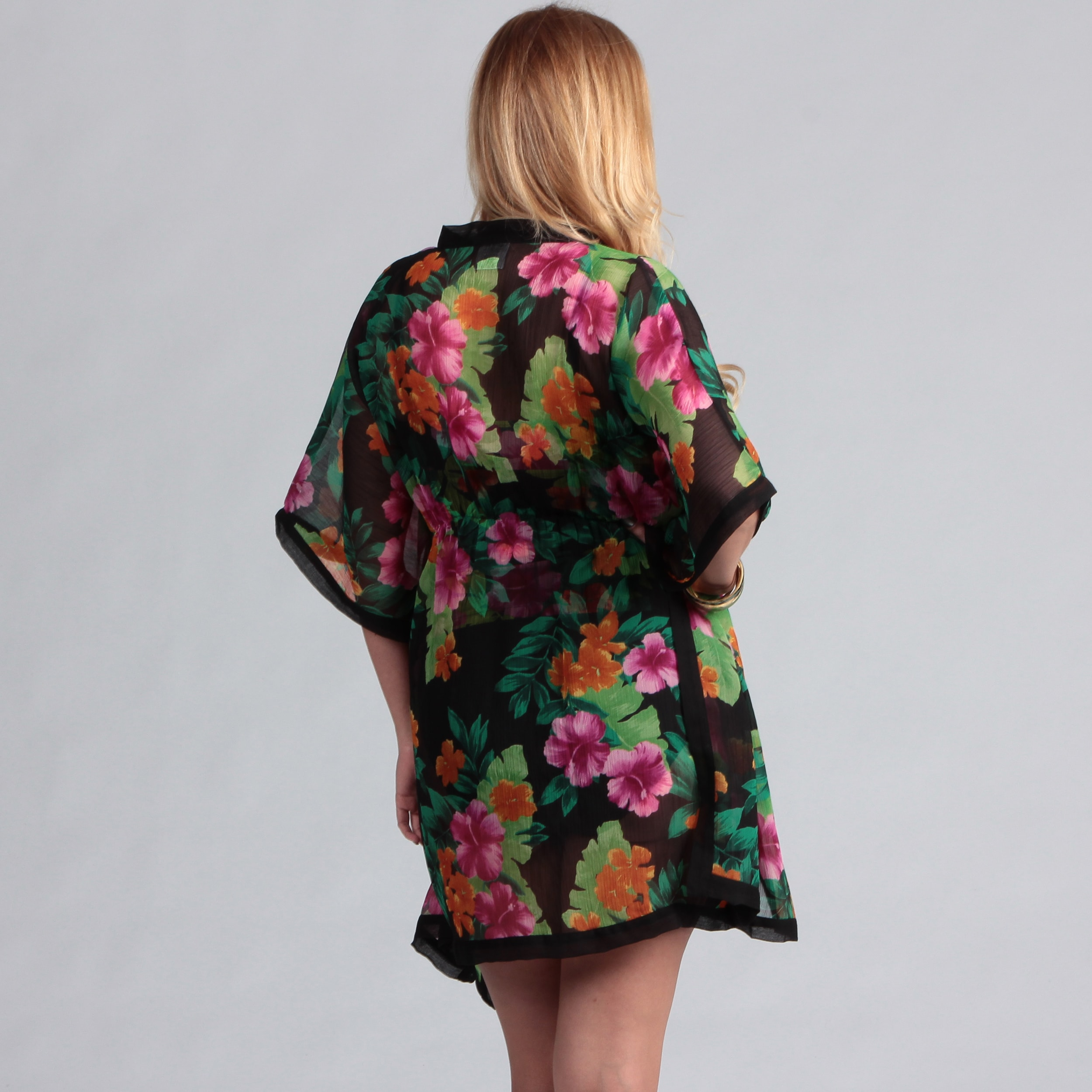 320dc21e7b6d8 Shop Swim by Chuck Handy Coconut Ring Tankini Swimsuit Kimono Coverup - Free  Shipping Today - Overstock - 7193954