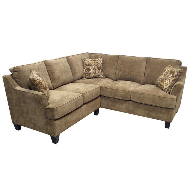 Superior Sandi Light Brown Fabric Sectional Sofa
