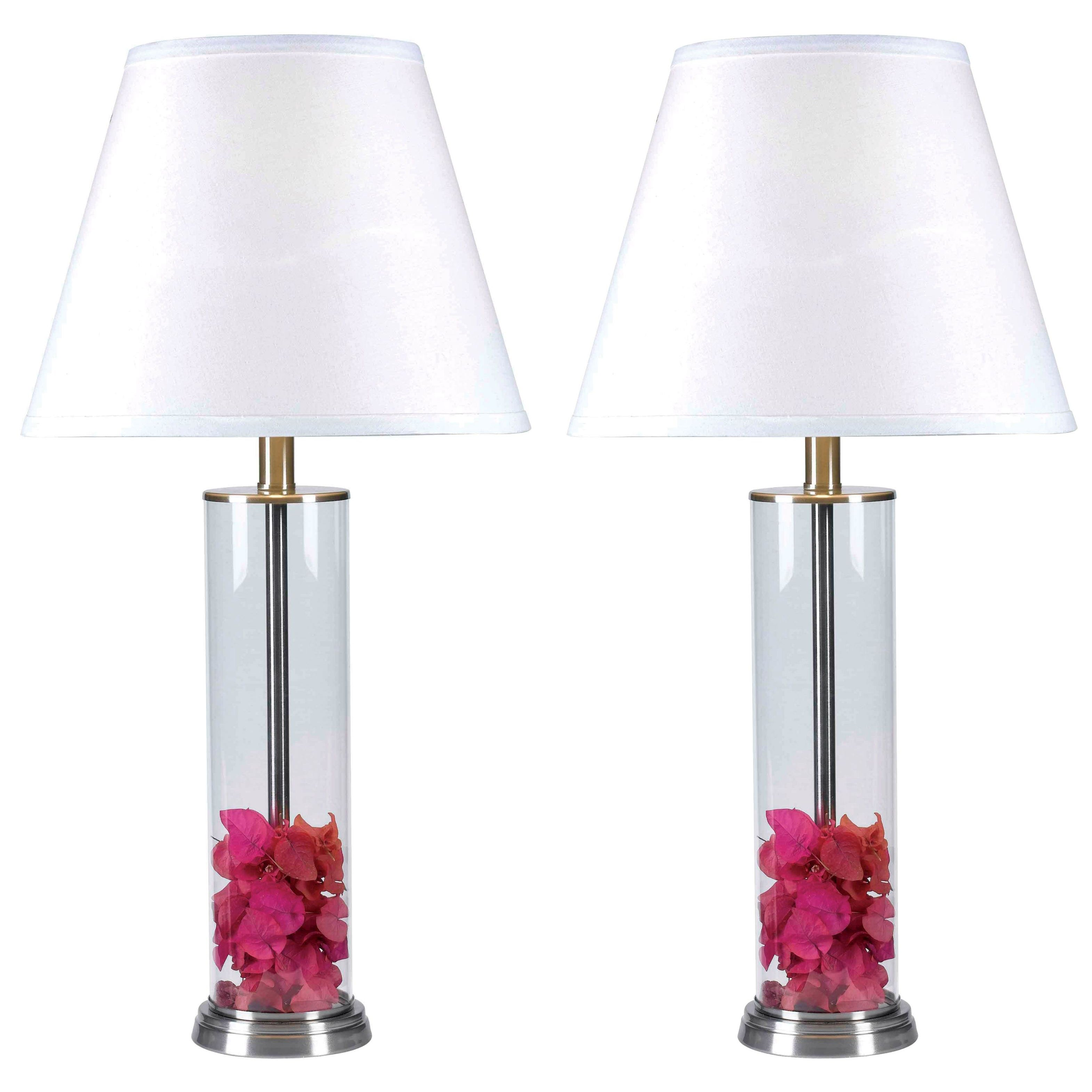 Shop Design Craft Clear Glass Fillable Table Lamp Set Of 2 Free