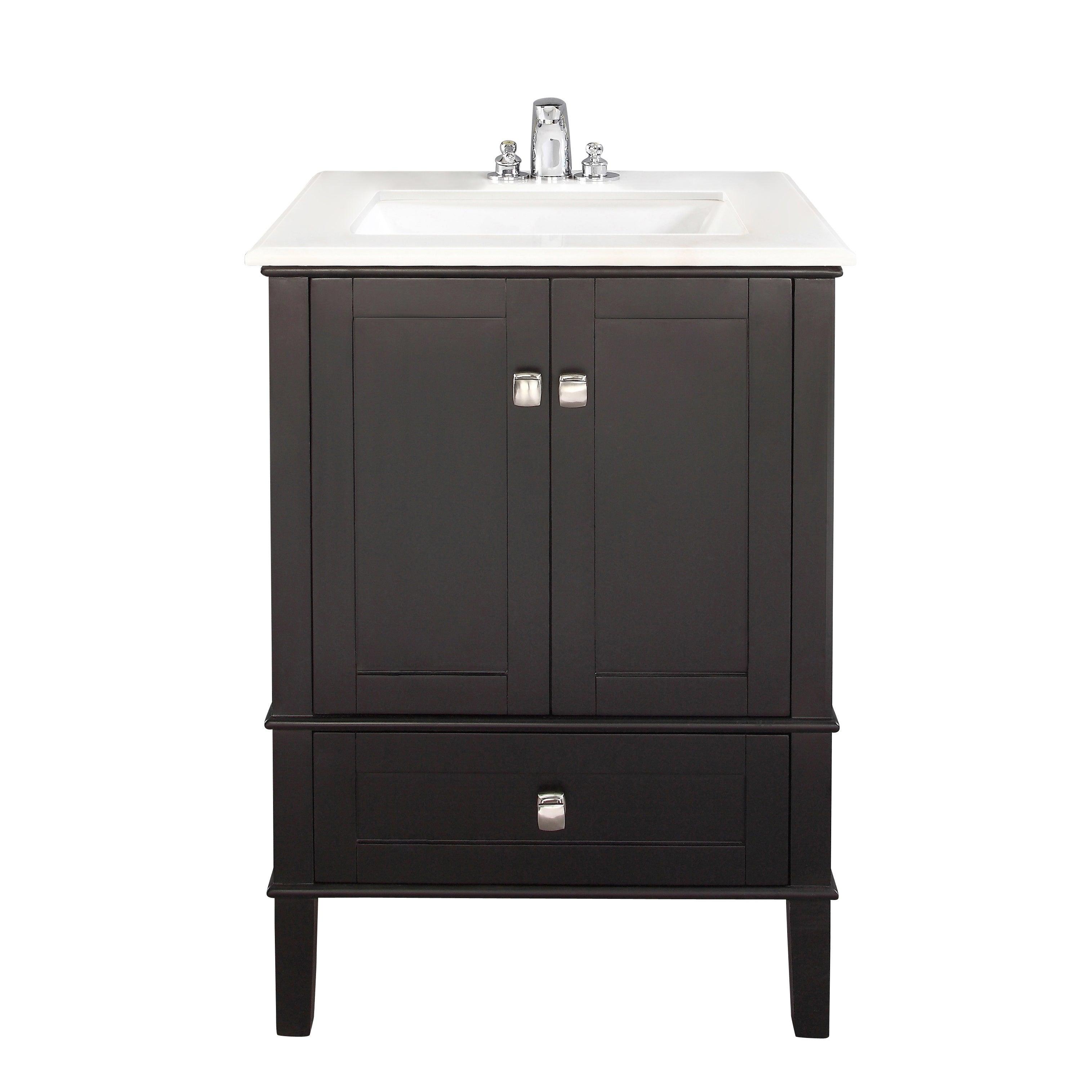 Shop WYNDENHALL Windham Black Door Inch Bath Vanity Set With - 24 inch black bathroom vanity
