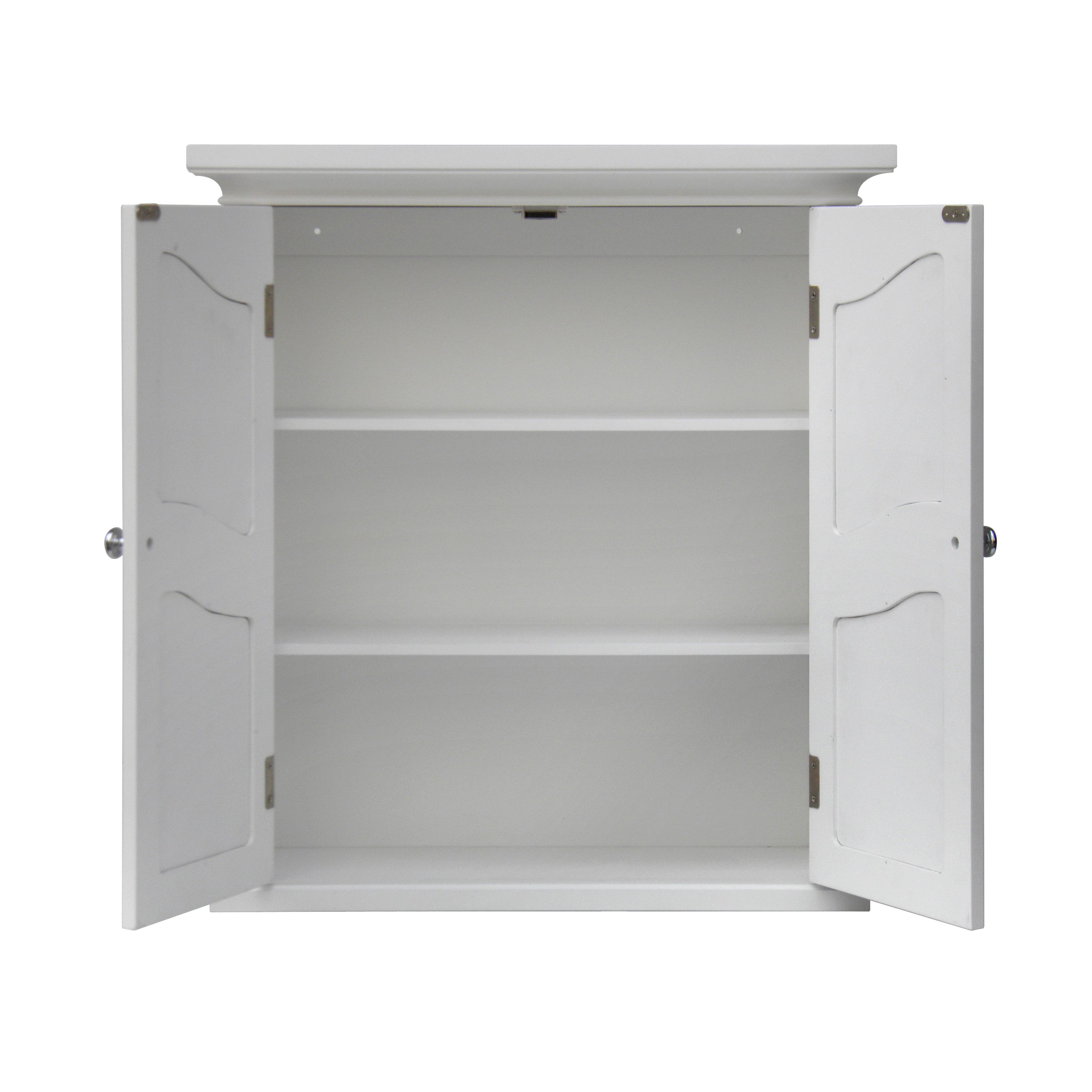 Shop Yvette White 2 Door Wall Cabinet By Elegant Home Fashions