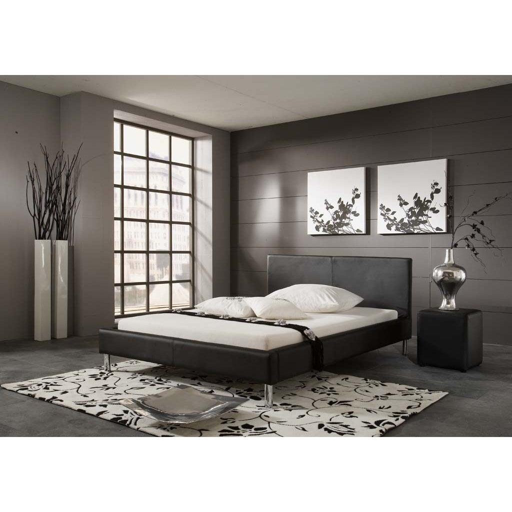 Shop matisse monte black contemporary platform king size bed frame free shipping today overstock com 7213540