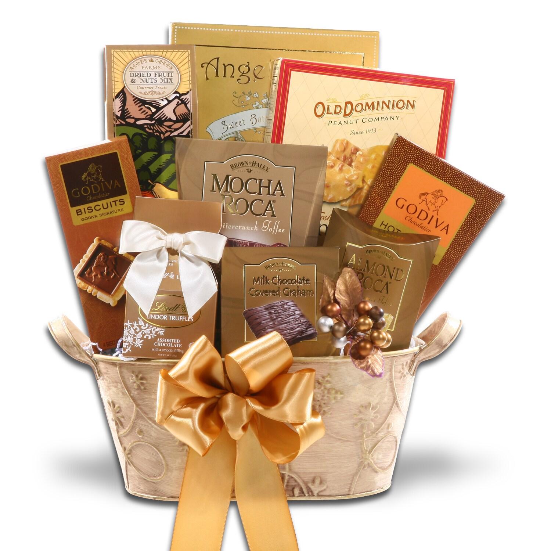 Shop Alder Creek Golden Decadence Gift Basket Free Shipping Today