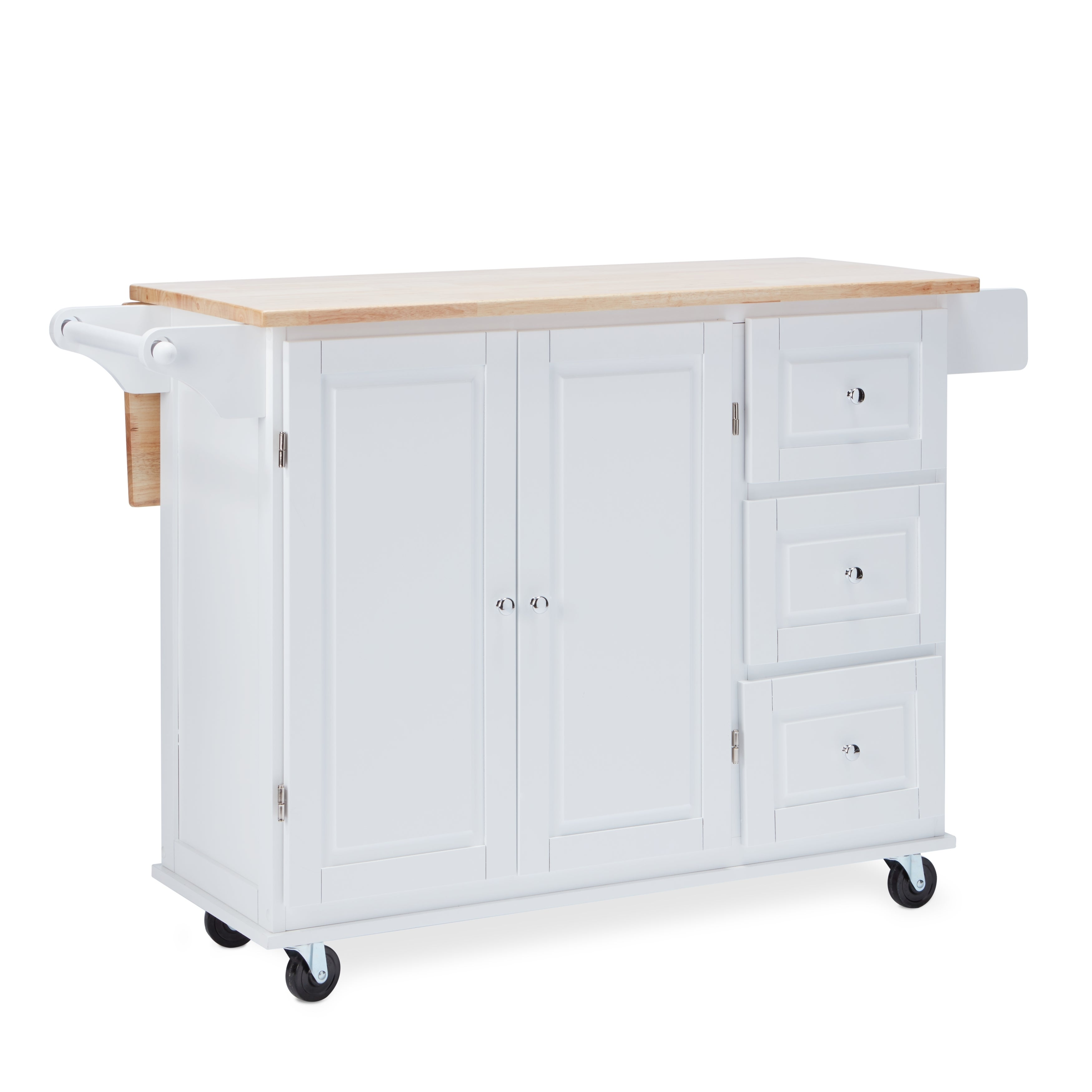 Shop aspen three drawers kitchen cart on sale free shipping today overstock com 20602808