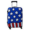 Ed Heck Stars n Stripes Red, White and Blue 25-inch Hardside Spinner Suitcase