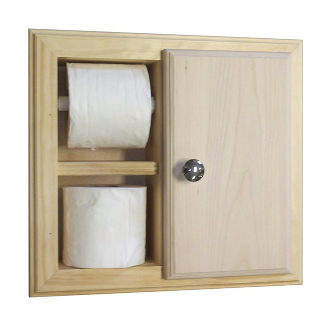 Attirant Shop In The Wall Toilet Paper Holder With Storage   Free Shipping Today    Overstock.com   7233445