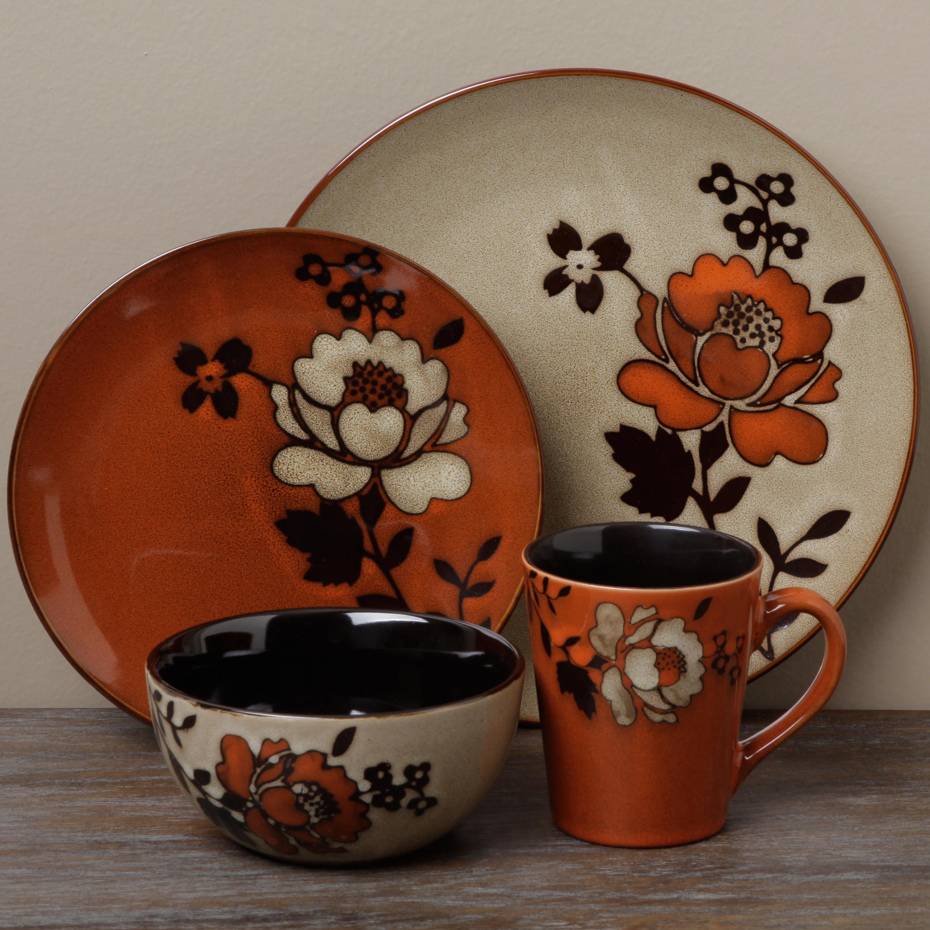 Shop Tabletop Unlimited \'Ibiza Brown\' 16-piece Dinnerware Set - Free ...