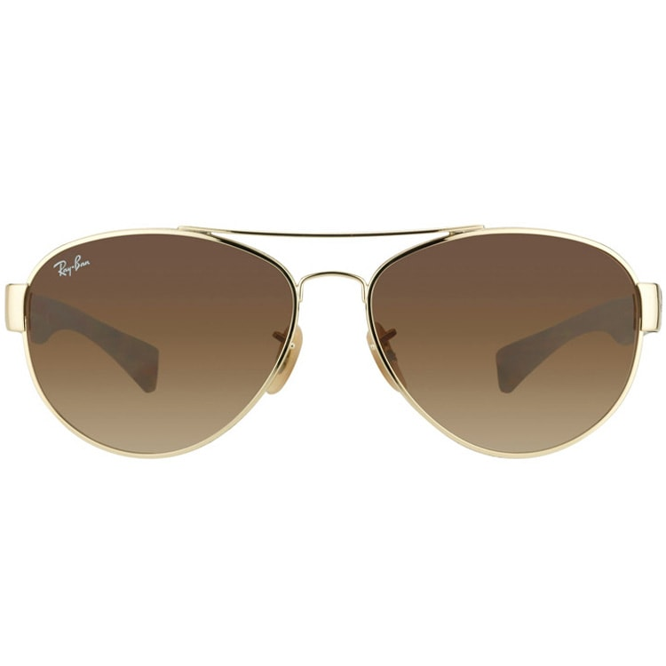 2a0be86509498 ... where to buy shop ray ban unisex rb 3491 aviator 001 13 gold matte  tortoise sunglasses
