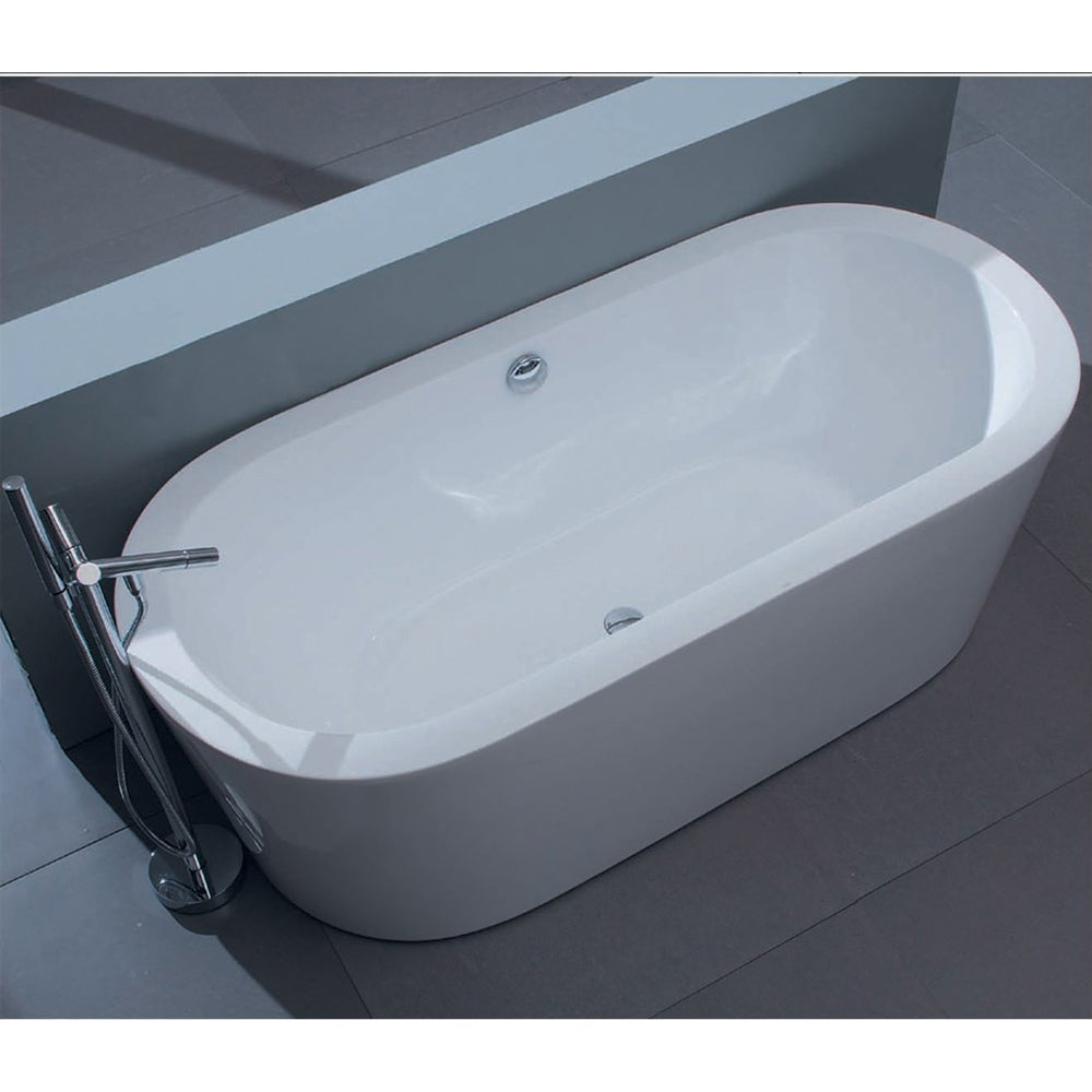 Shop Aquatica PureScape 014 Freestanding Acrylic Bathtub - Free ...