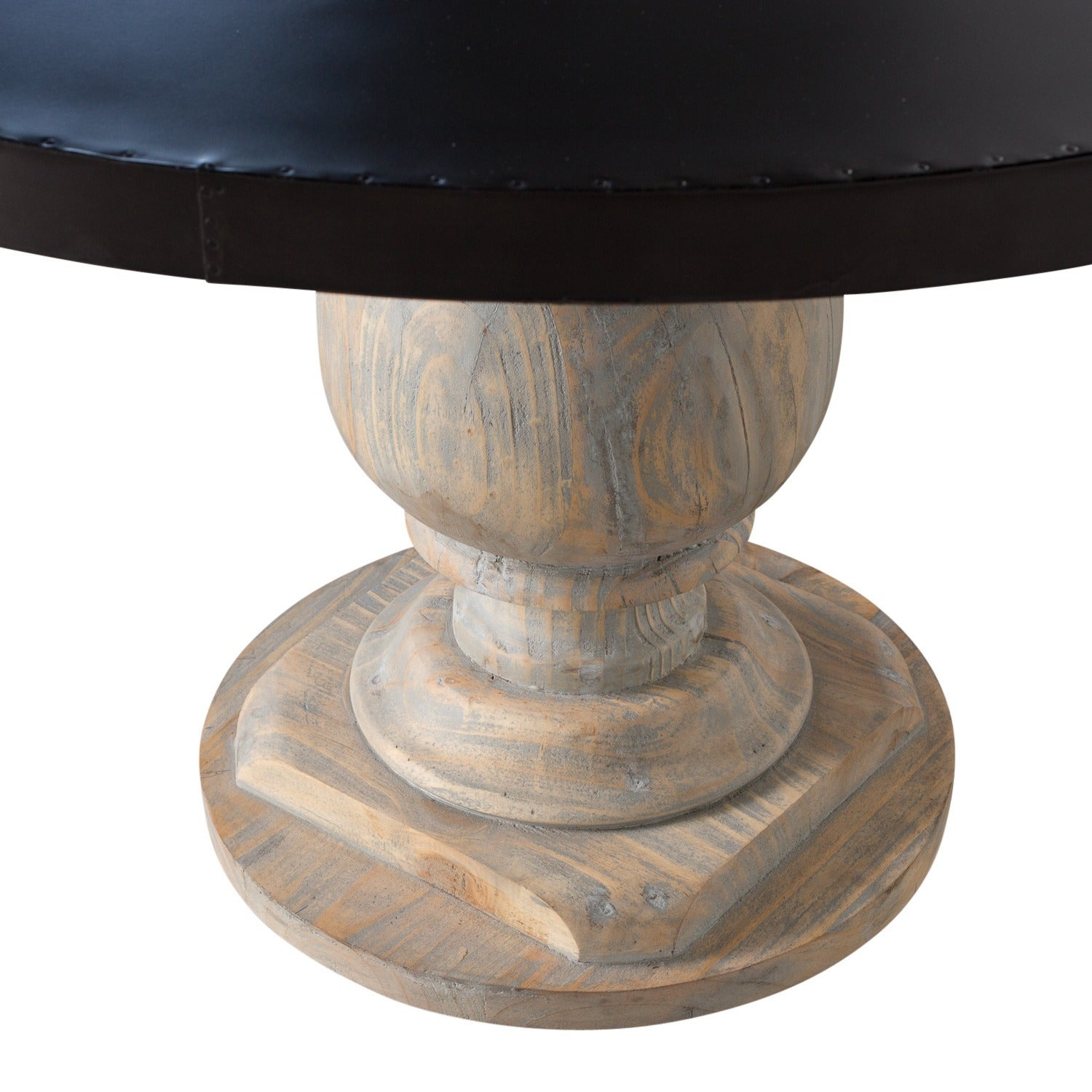 Indore Round Zinc Dining Table (India)   Free Shipping Today    Overstock.com   14733891