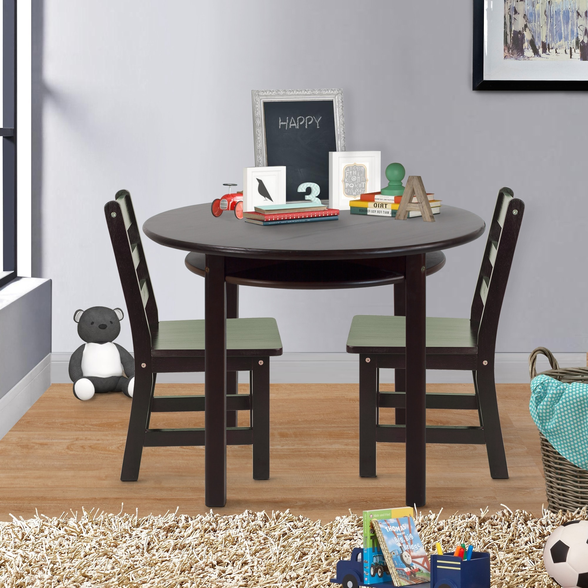 Shop Childrens Round Table And Chair Set   Free Shipping Today    Overstock.com   7258361