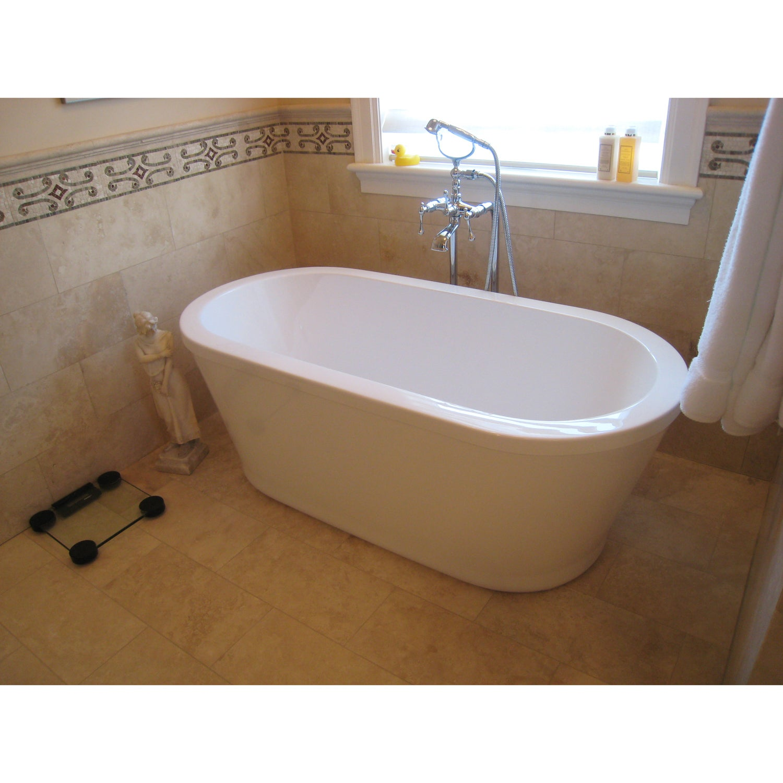 Shop Aquatica PureScape 302 Freestanding Acrylic Bathtub - Free ...
