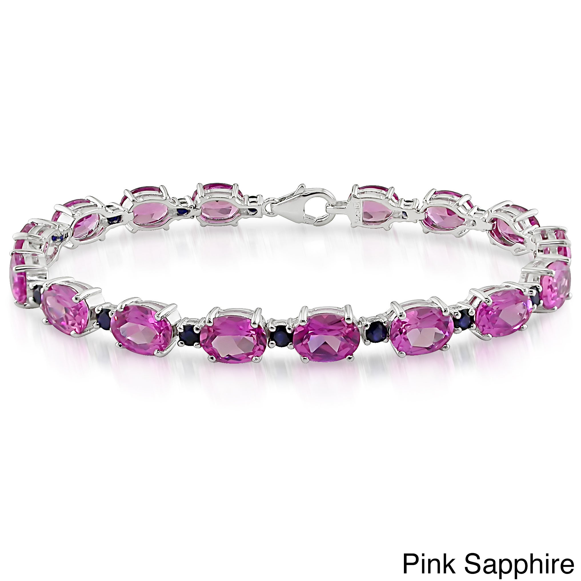 bracelet silver sterling tw sapphire in ct pink collection bangle ruby effy
