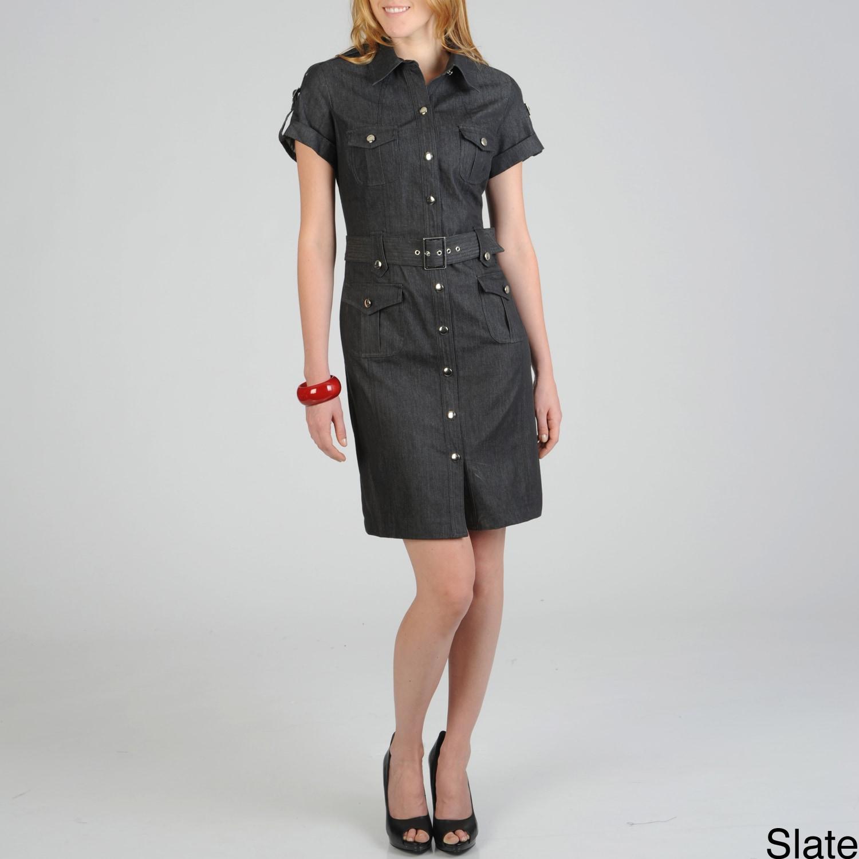 Shop Sharagano Womens Denim Shirt Dress Free Shipping Today