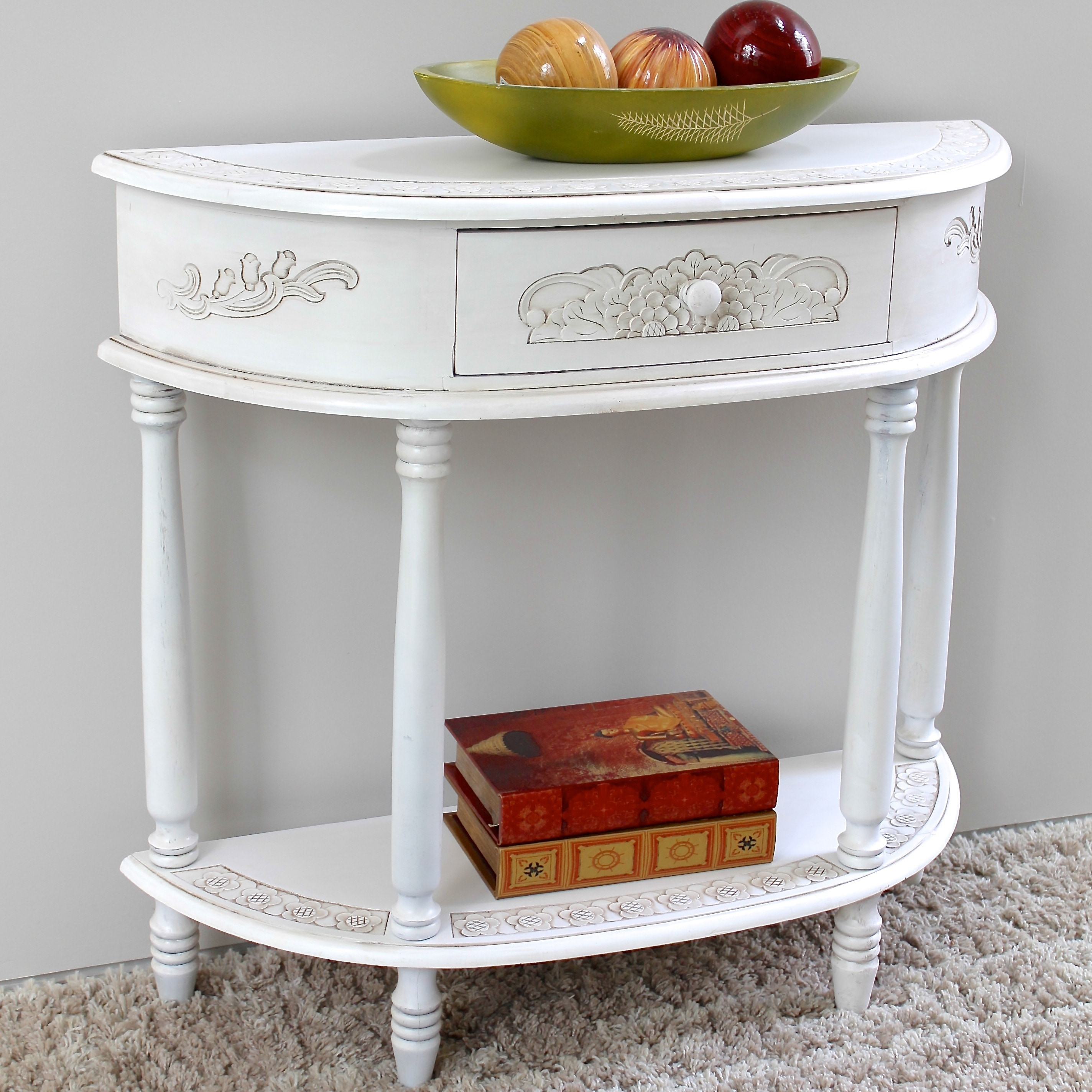 Charmant Shop International Caravan Windsor Carved Half Moon Console Table   Free  Shipping Today   Overstock.com   7278756
