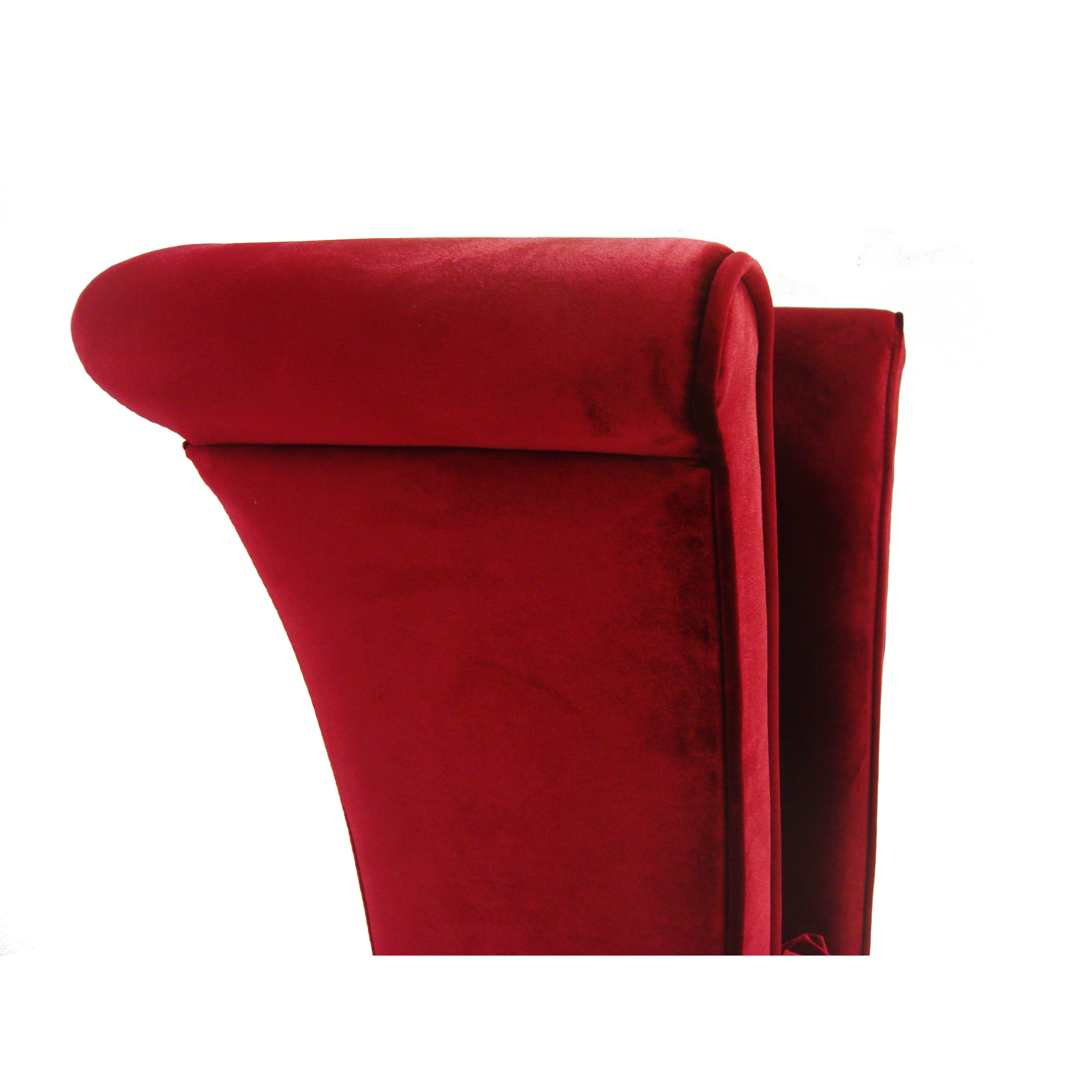Armen Living Mad Hatter Red Velvet High Back Chair   Free Shipping Today    Overstock.com   14754729