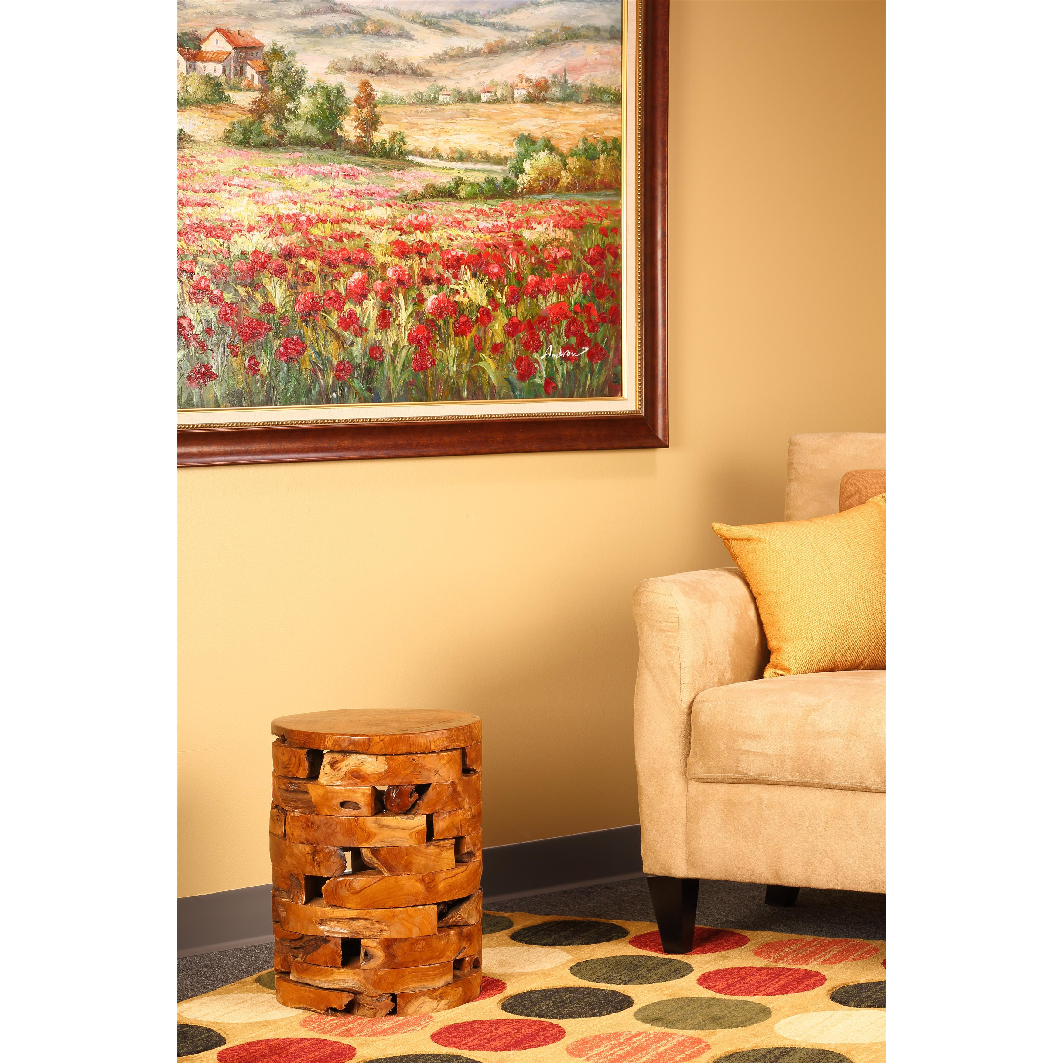 Bare Decor Stonehenge Solid Teak Wood Stump End Table - Free ...