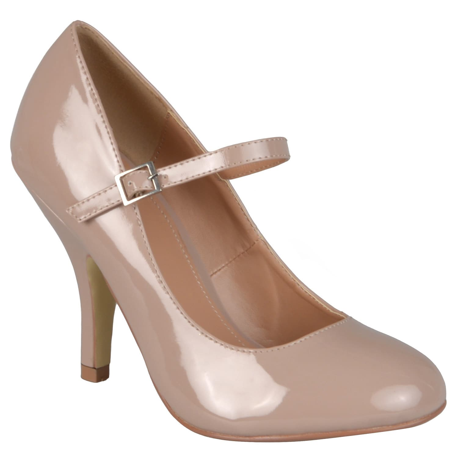 34125f2fd726 Shop Journee Collection Women s  Leslie  Patent Round Toe Mary Jane Pumps -  On Sale - Free Shipping On Orders Over  45 - Overstock - 7279889