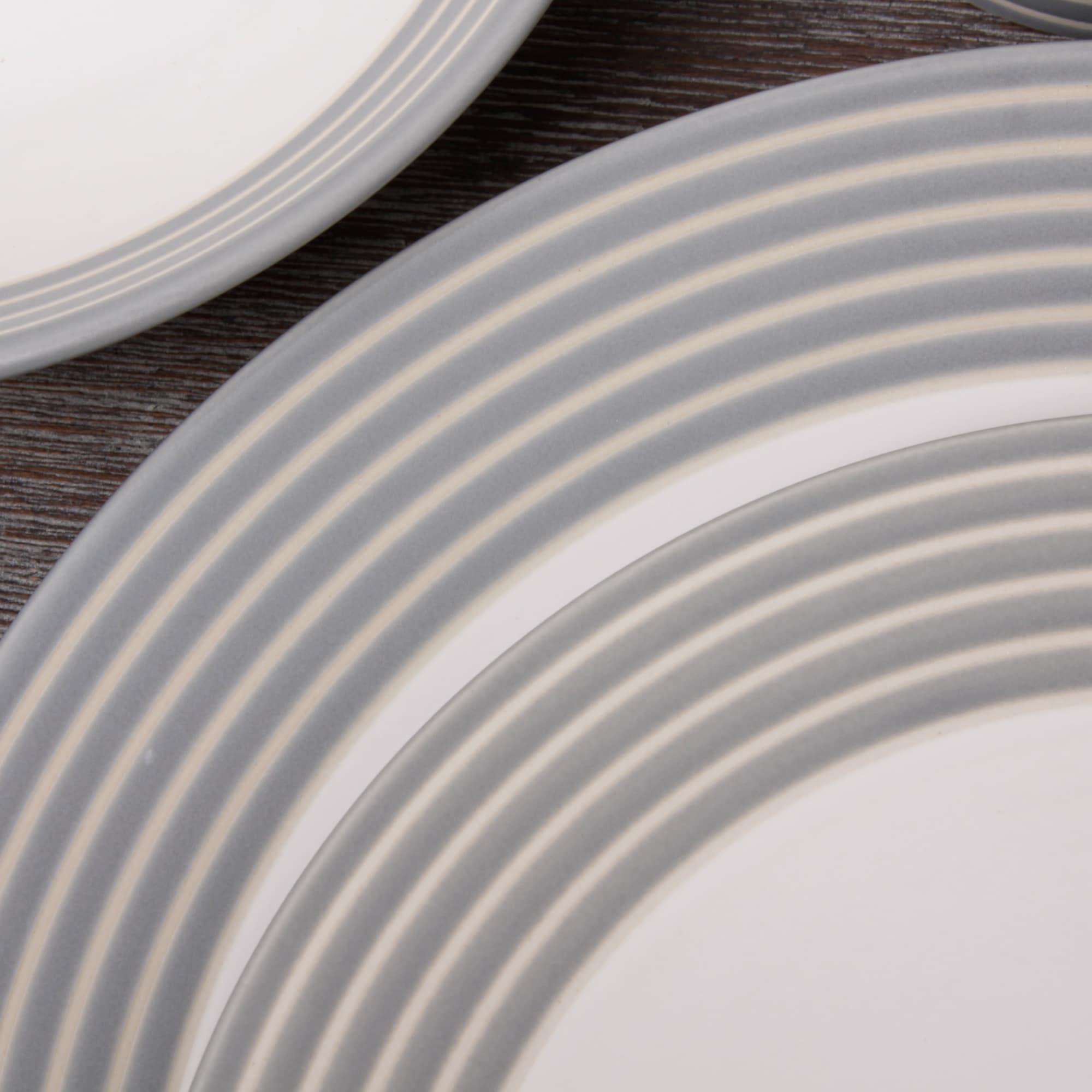 Shop Denby Intro Stripe Grey 16-piece Dinnerware Set - Free Shipping ...