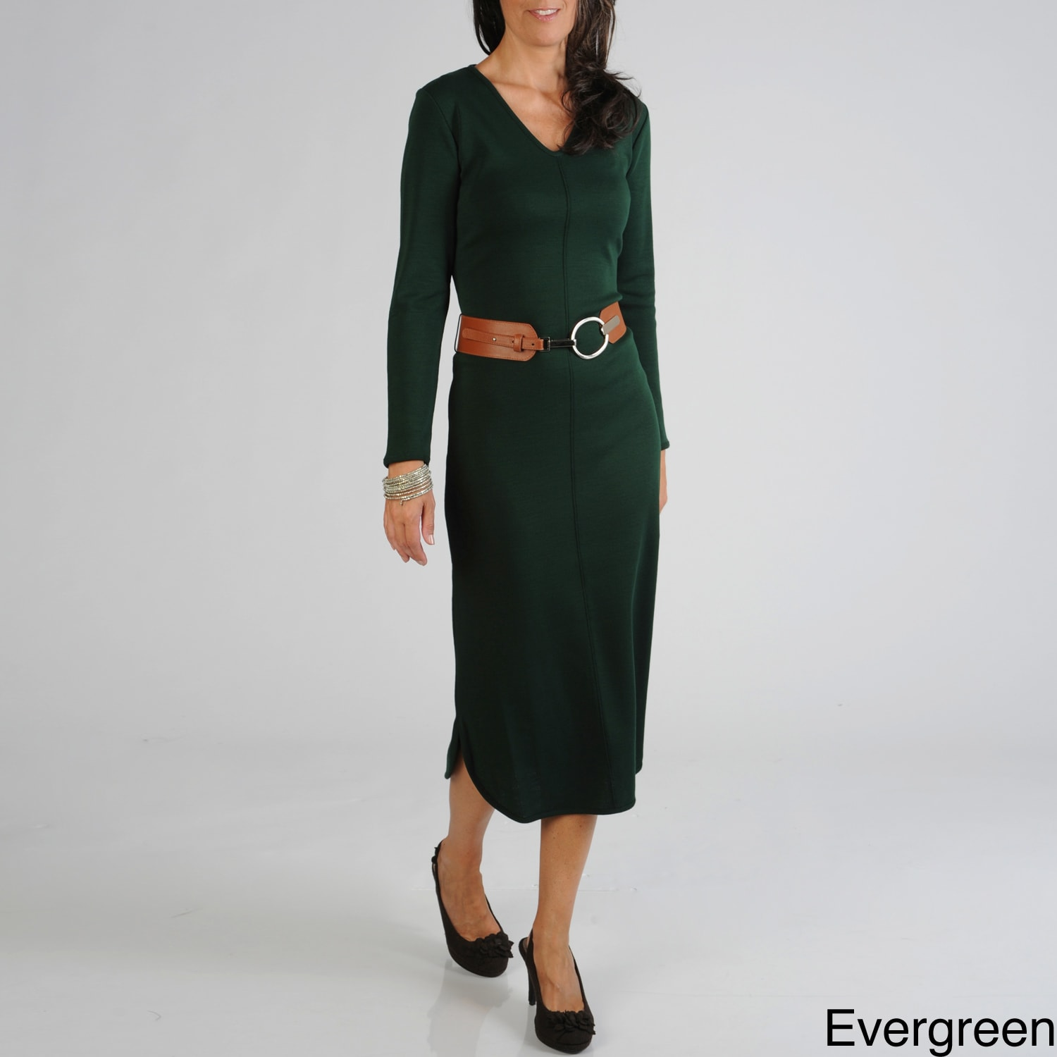 8e3656f7dfc Shop Lennie for Nina Leonard Women s Belted Dress - Free Shipping Today -  Overstock - 7286889