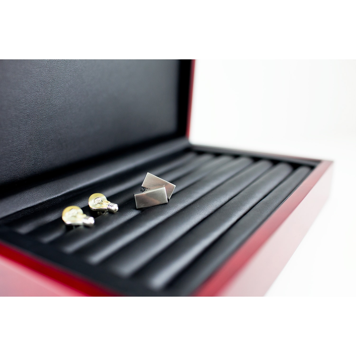 3668c419b Shop Caddy Bay Collection Rosewood Jewelry Ring Cuff Link Display Storage  Box - Free Shipping On Orders Over $45 - Overstock - 7292273