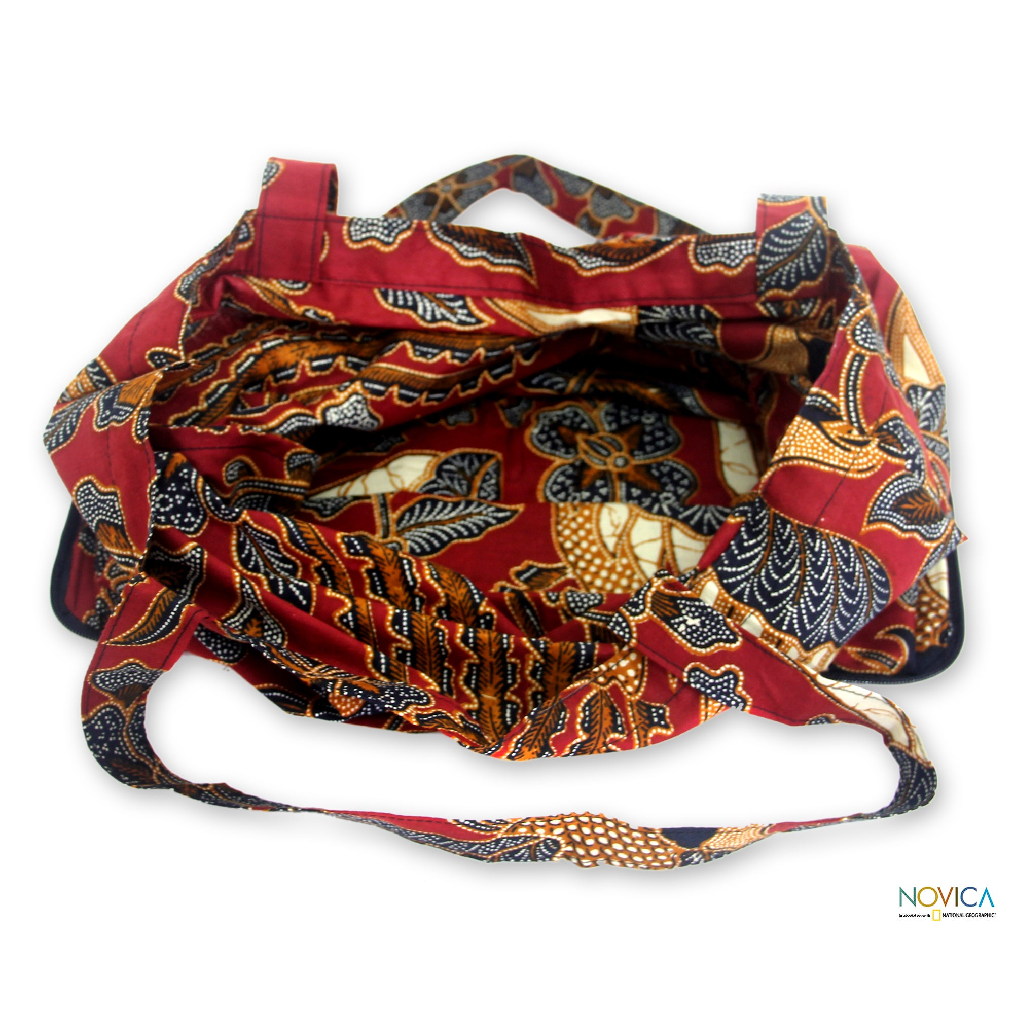 09a074da82 Shop Large Cotton  Surakarta Legacy  Batik Foldable Tote Bag (Indonesia) -  On Sale - Free Shipping On Orders Over  45 - Overstock - 7301070