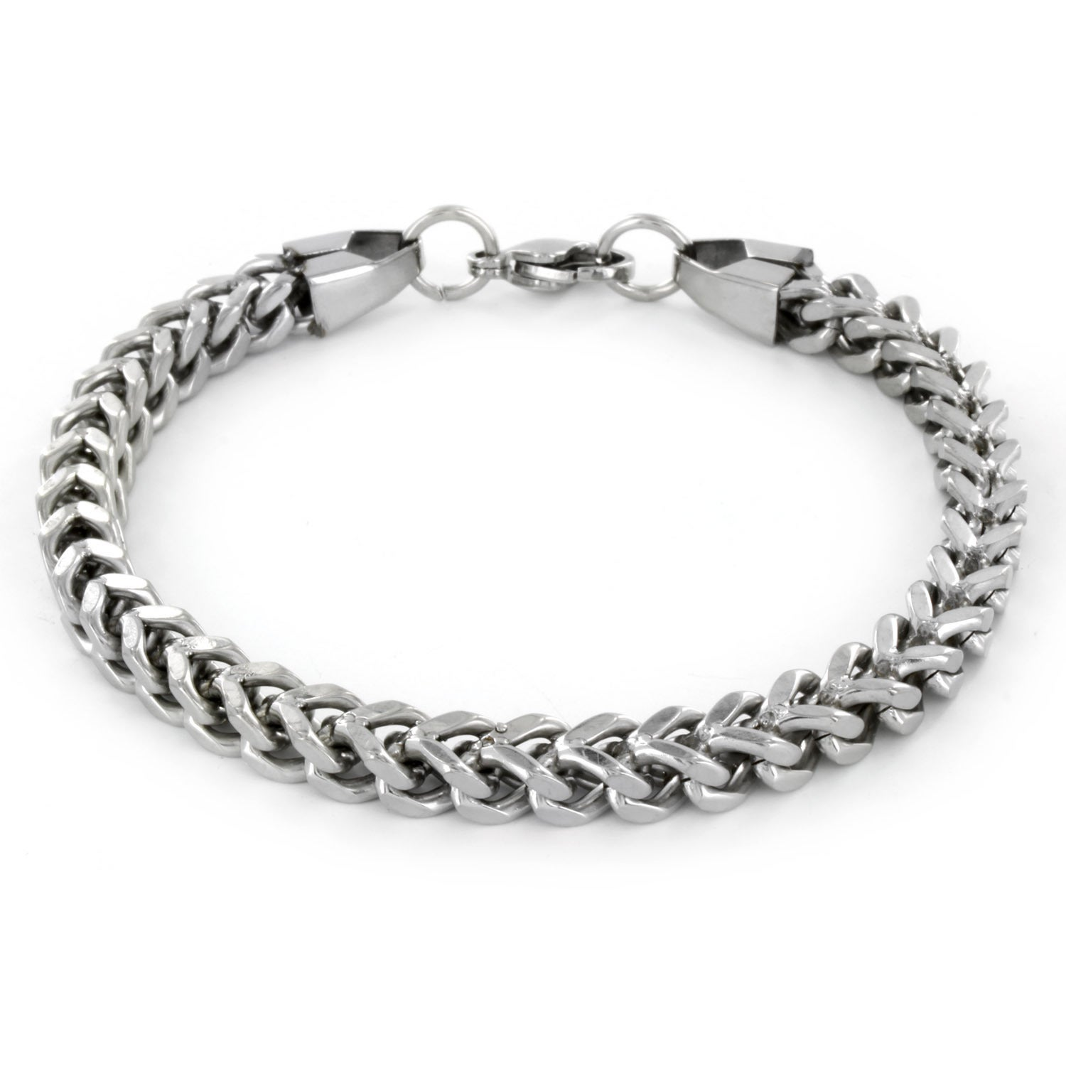 Shop Stainless Steel Men S Franco Box Chain Bracelet Free Shipping