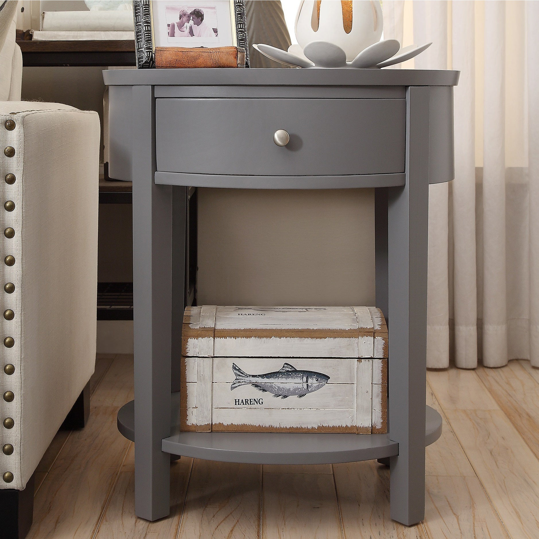 Fillmore 1-drawer Oval Wood Shelf Accent End Table by iNSPIRE Q Bold - Free  Shipping Today - Overstock.com - 14776296