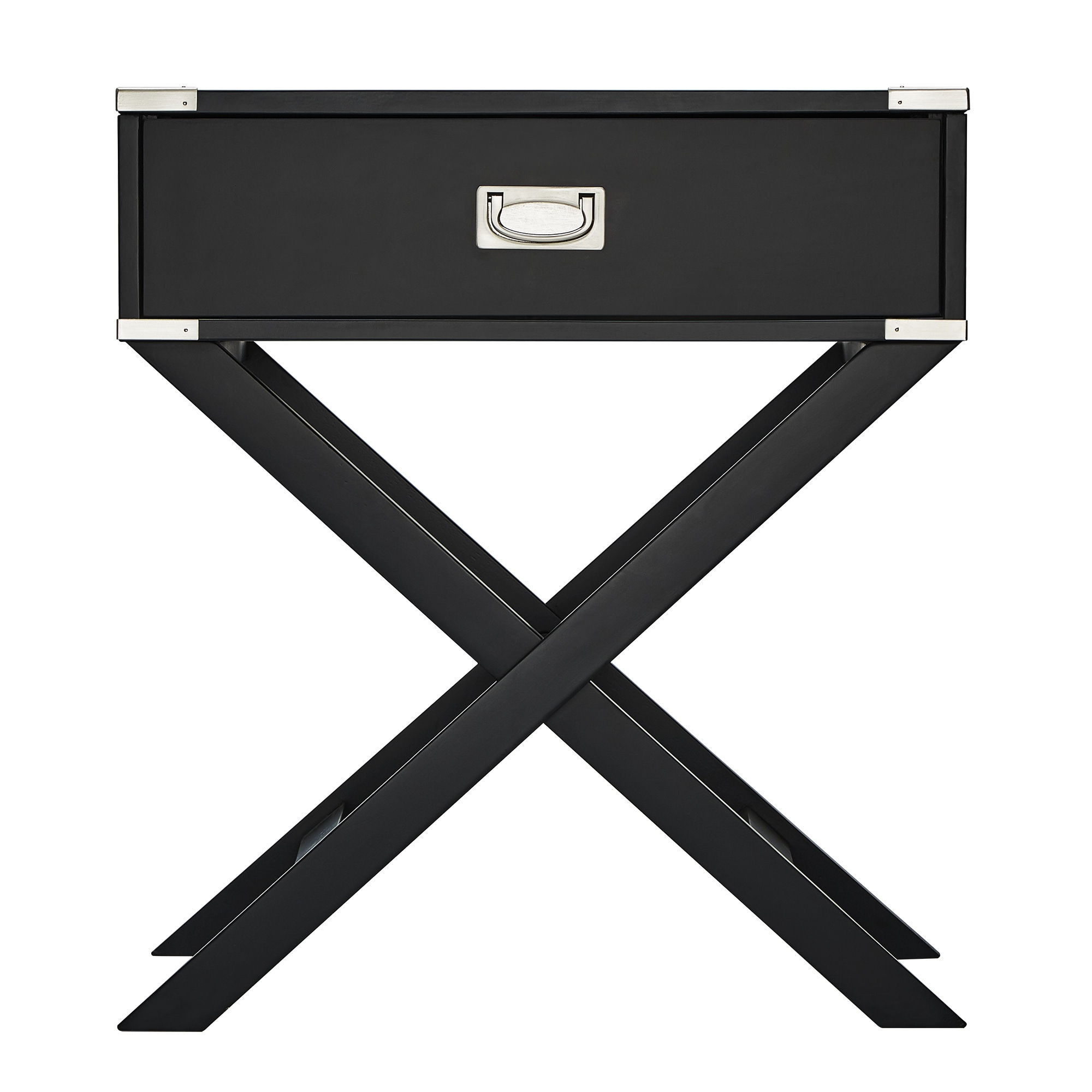 Kenton X Base Wood Accent Campaign Table by iNSPIRE Q Bold - Free Shipping  Today - Overstock.com - 14776300