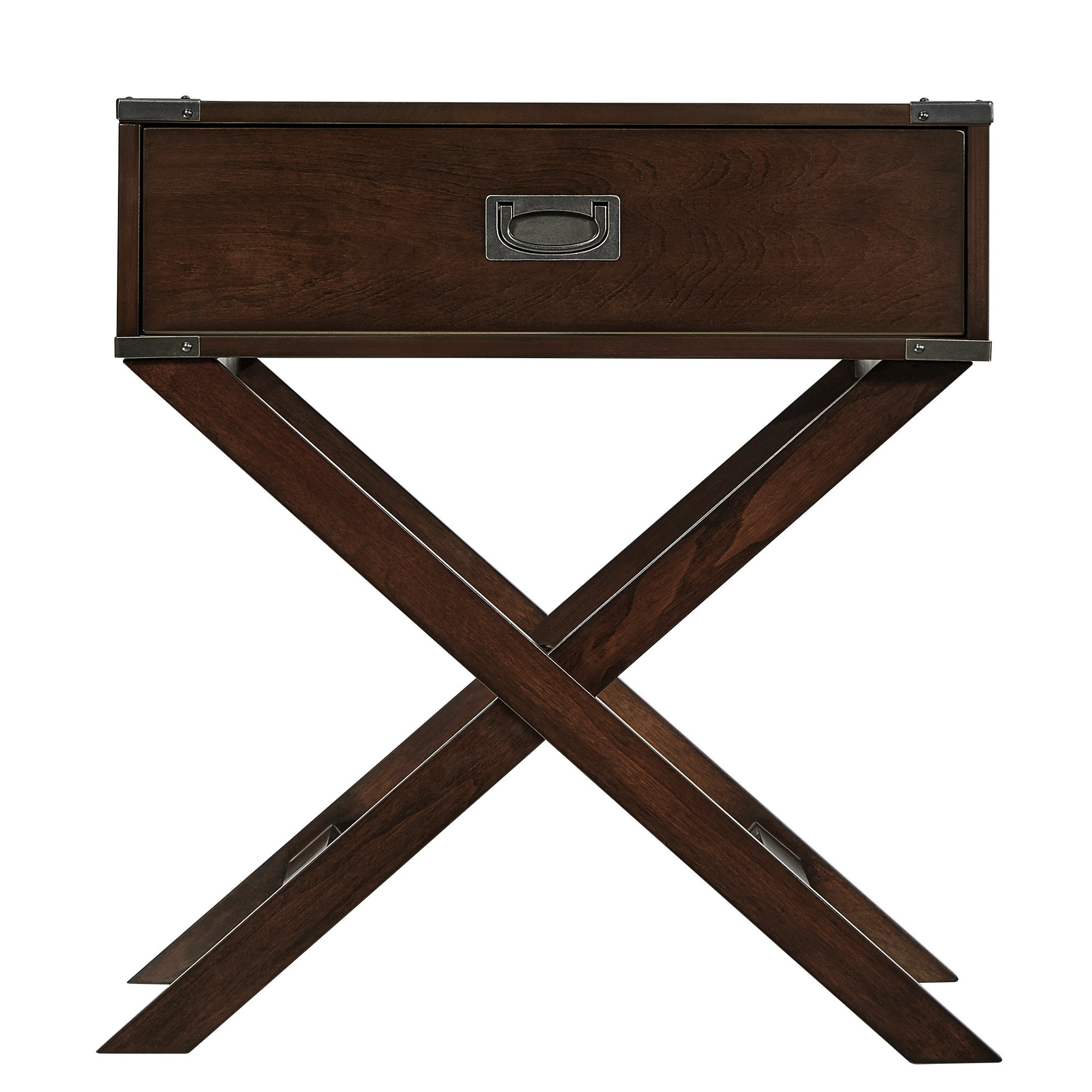Shop Kenton X Base Wood Accent Campaign Table By INSPIRE Q Bold   On Sale    Free Shipping Today   Overstock.com   7304851