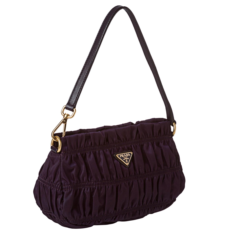 5e0b5722b44d ... netherlands shop prada tessuto gaufre purple nylon mini bag free  shipping today overstock 7304884 1d36b 4c694