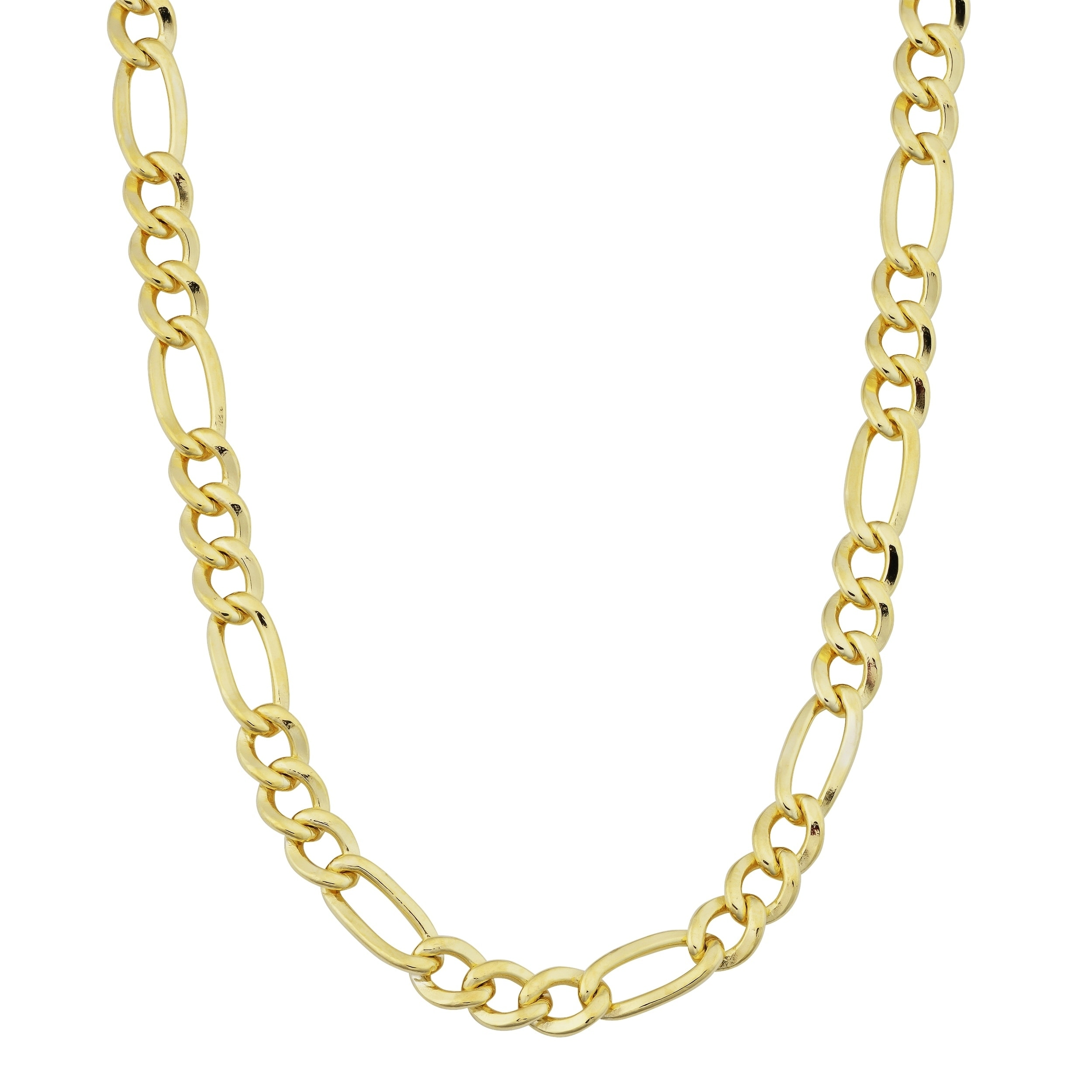 edfbbd458a7b8 14k Yellow Gold-filled Figaro Link Chain Necklace (18-36 inches)