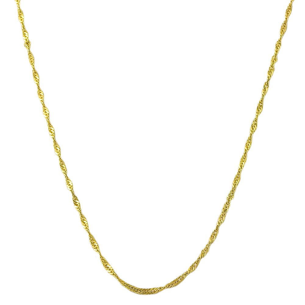 Shop Fremada 14k Yellow Gold Singapore Chain Necklace (14-30 inch ... 109522e42b16