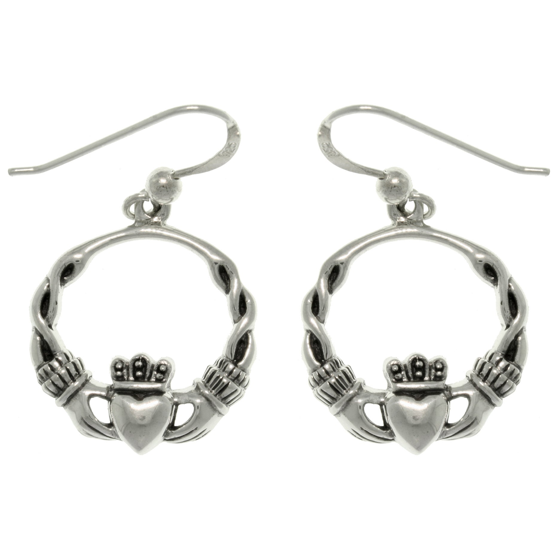 Sterling Silver Celtic Claddagh Earrings Free Shipping On Orders Over 45 7316207