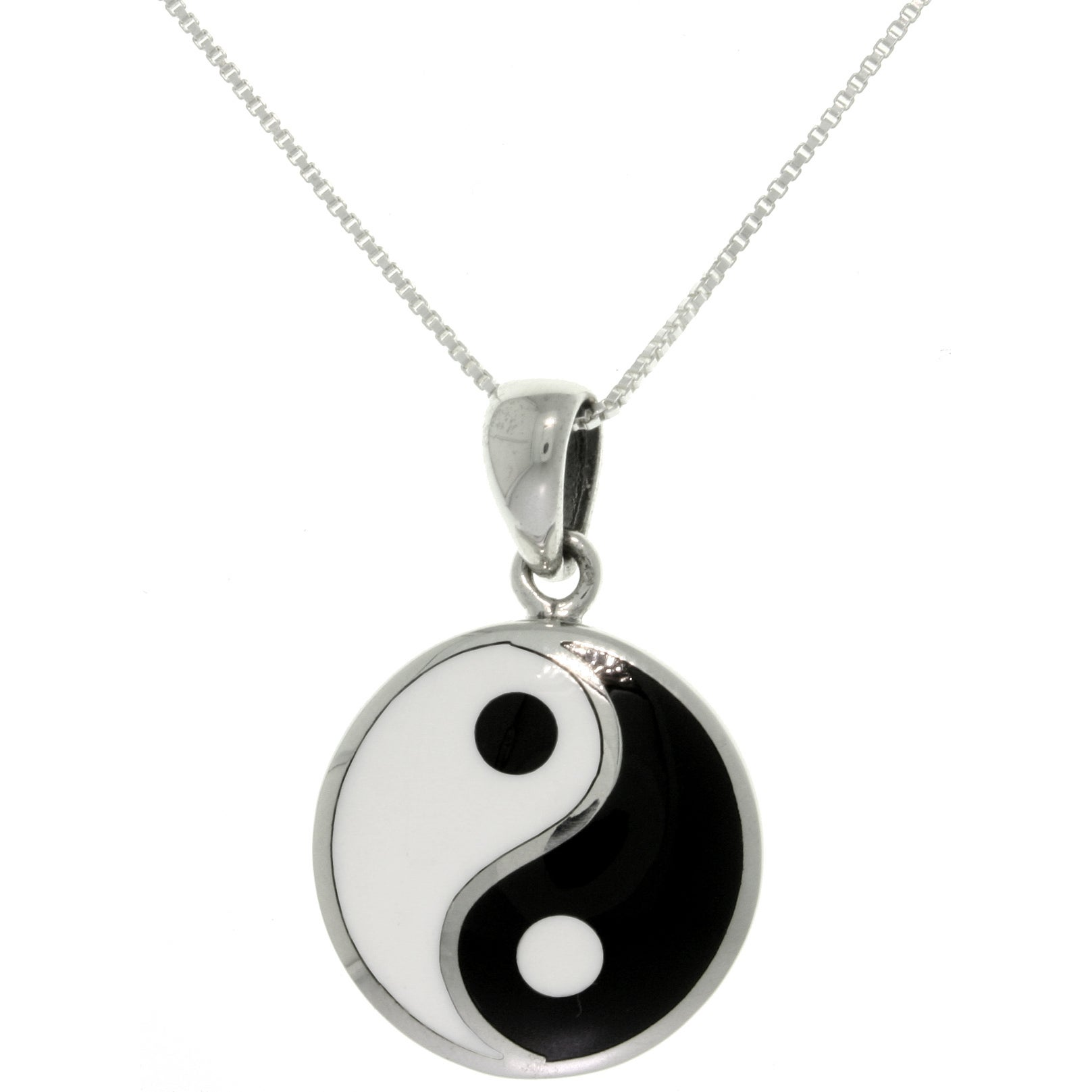 Sterling silver yin yang necklace free shipping on orders over 45 sterling silver yin yang necklace free shipping on orders over 45 overstock 14786504 aloadofball Images
