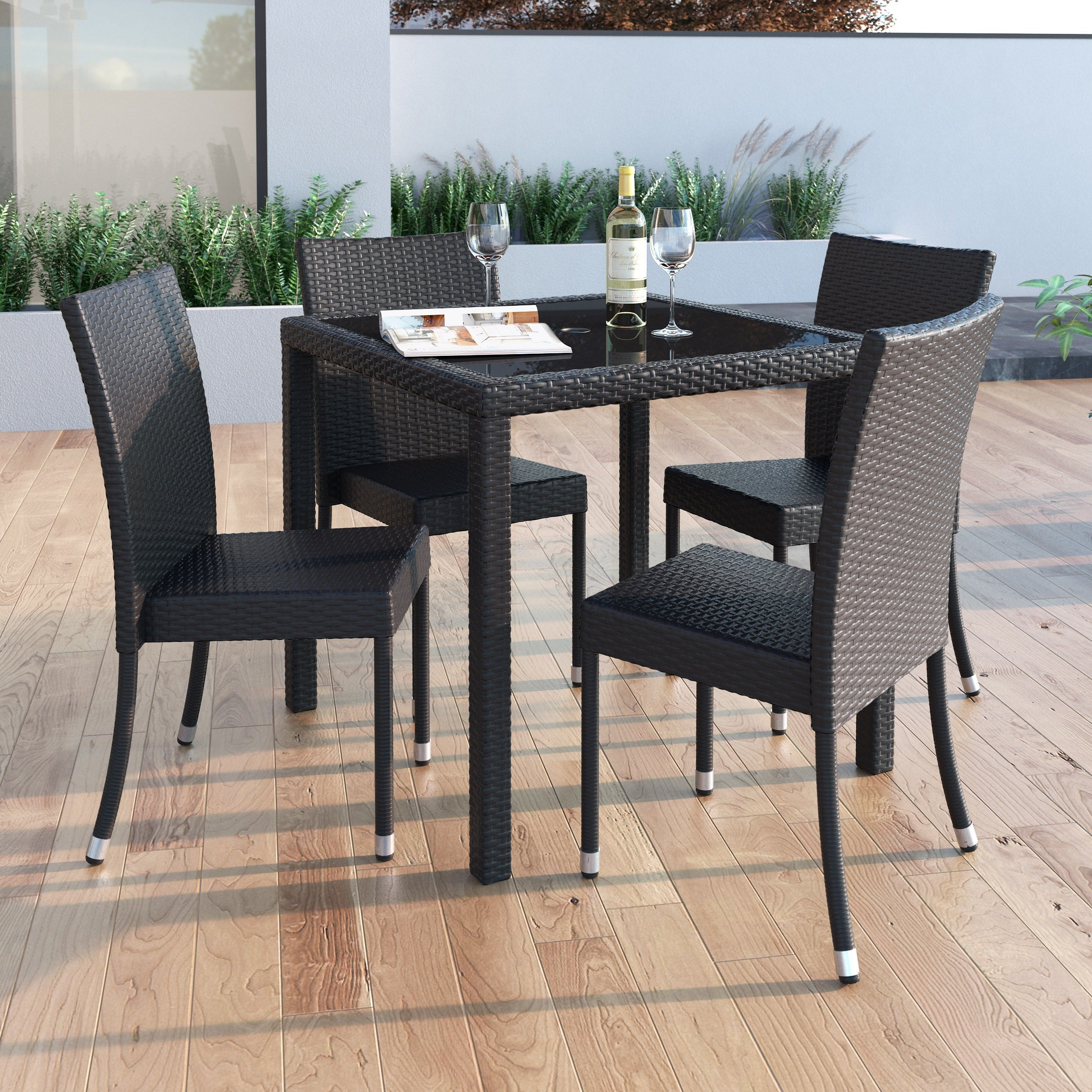 Corliving Park Terrace Square Patio Dining Table