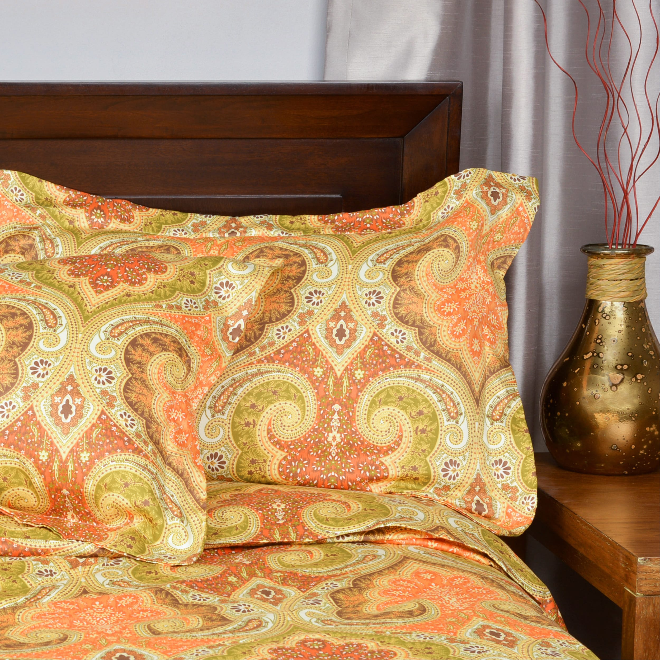 Milano Paisley Cotton Duvet Cover Set Free Shipping Orders