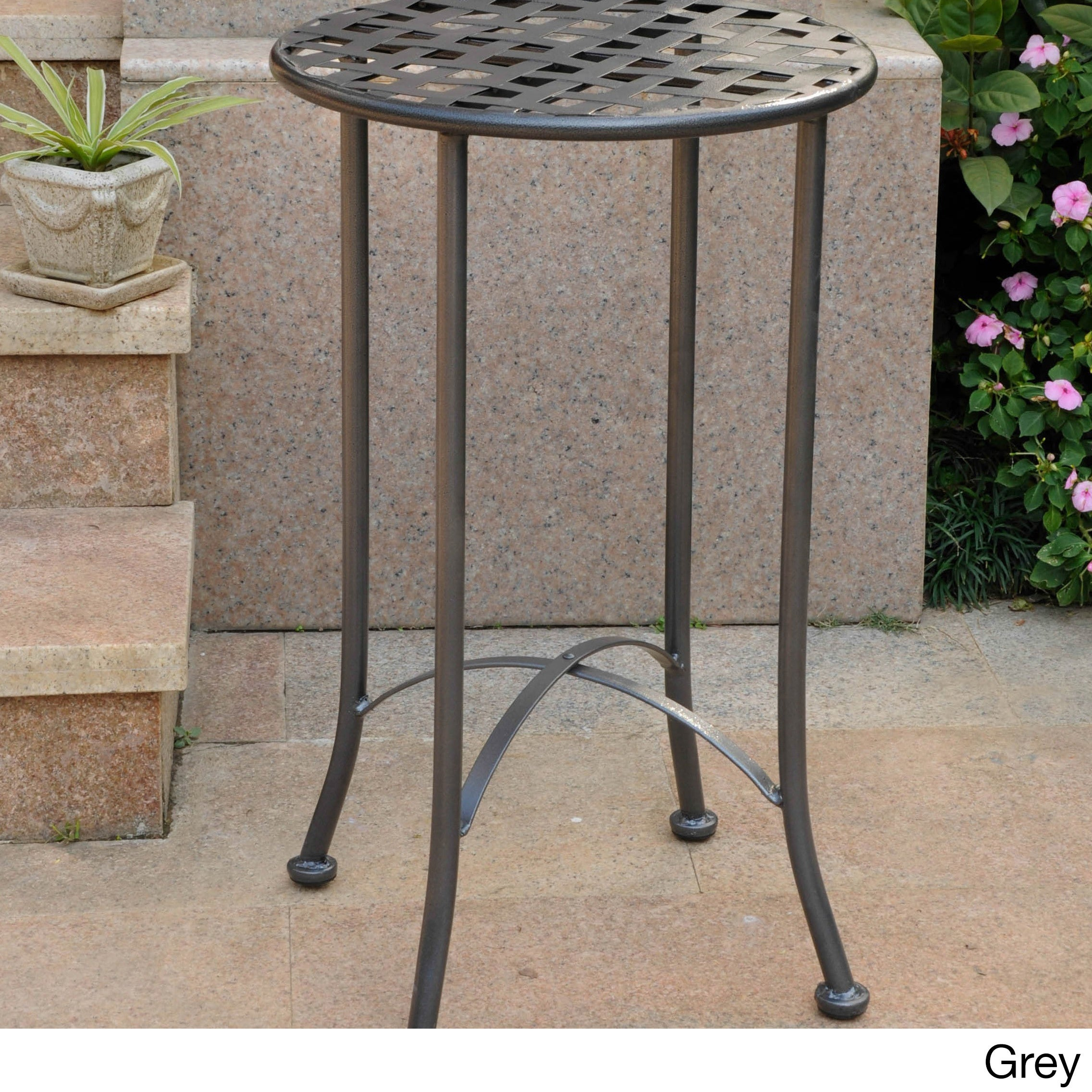 metal outdoor side decoration patio stamped aluminum hole decor and winston tables square umbrella table with bar