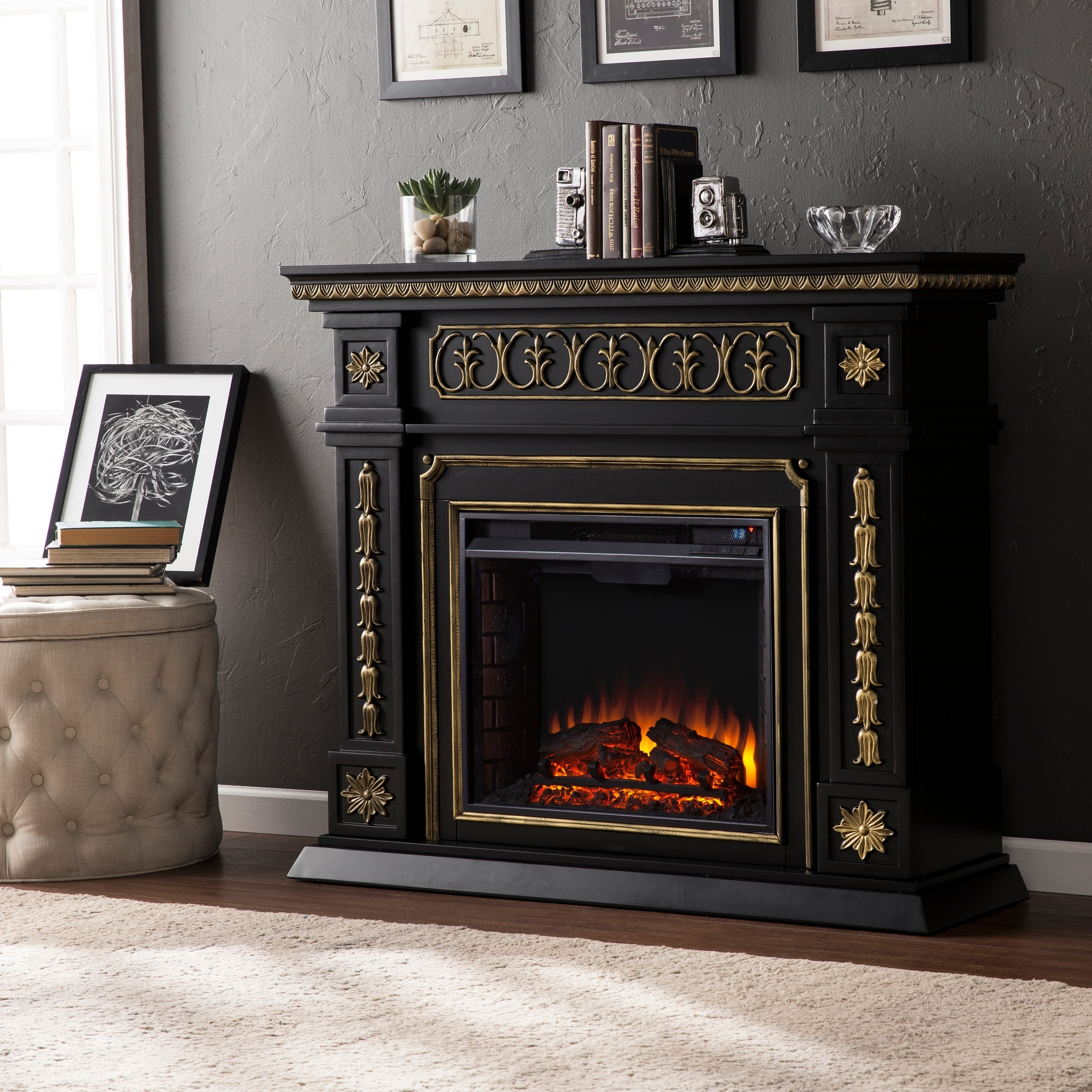 garden electric free fireplace harper store ivory product home shipping blvd gilbert on