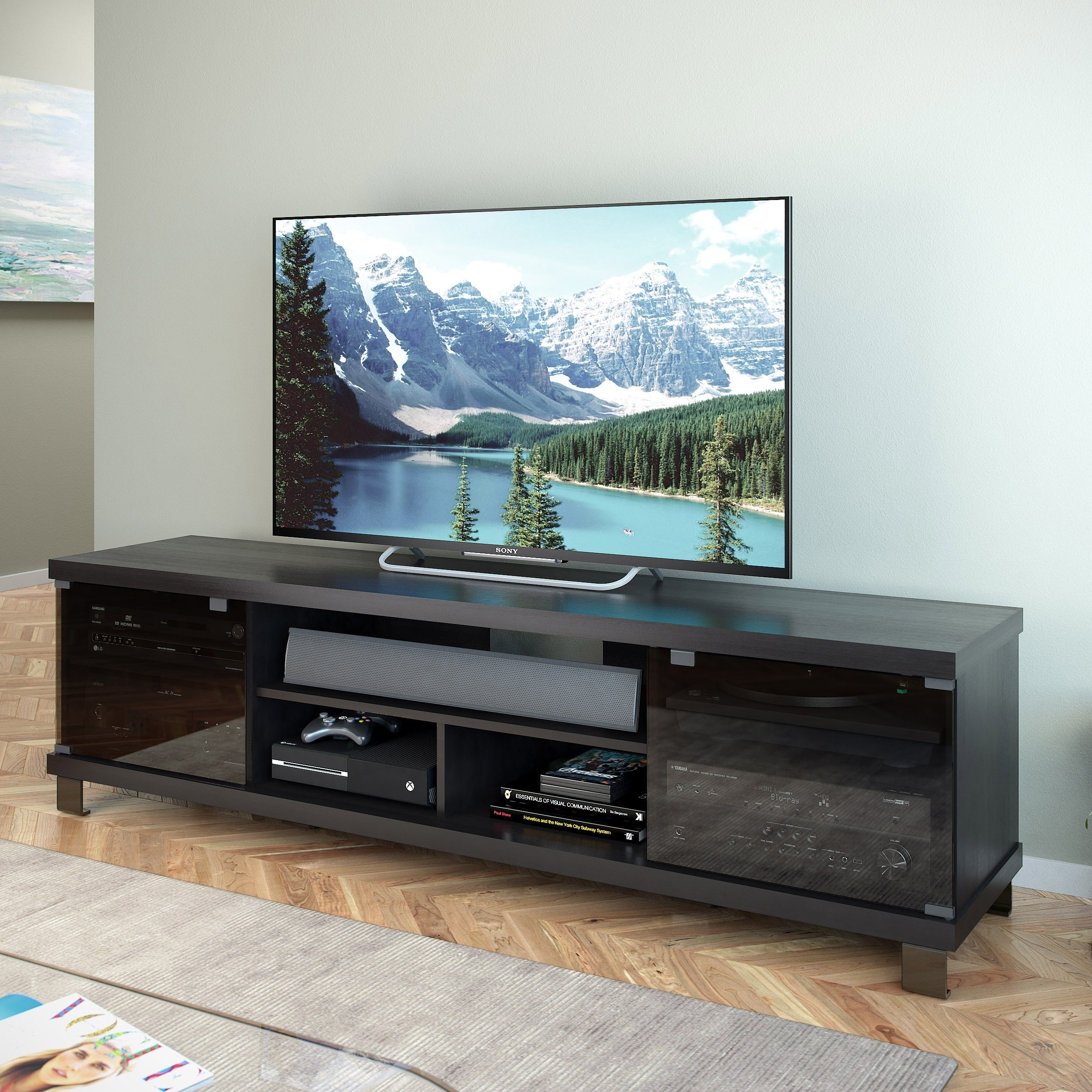 Shop Oliver & James Jaume Extra-wide Wood Entertainment Center ...
