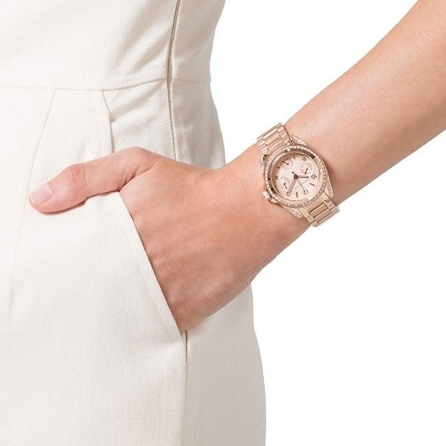 61956867eb92 Shop Michael Kors Women s MK5613 Mini Blair Rose Goldplated Watch - Free  Shipping Today - Overstock - 7325129