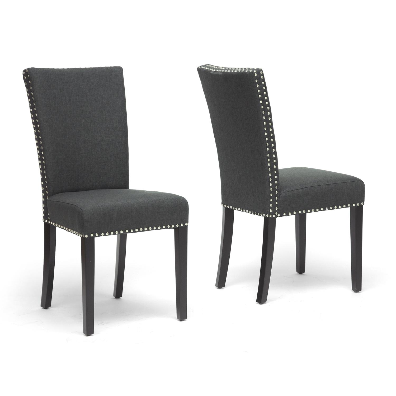 harrowgate dark gray linen modern dining chair (set of )  free shippingtoday  overstockcom  . harrowgate dark gray linen modern dining chair (set of )  free