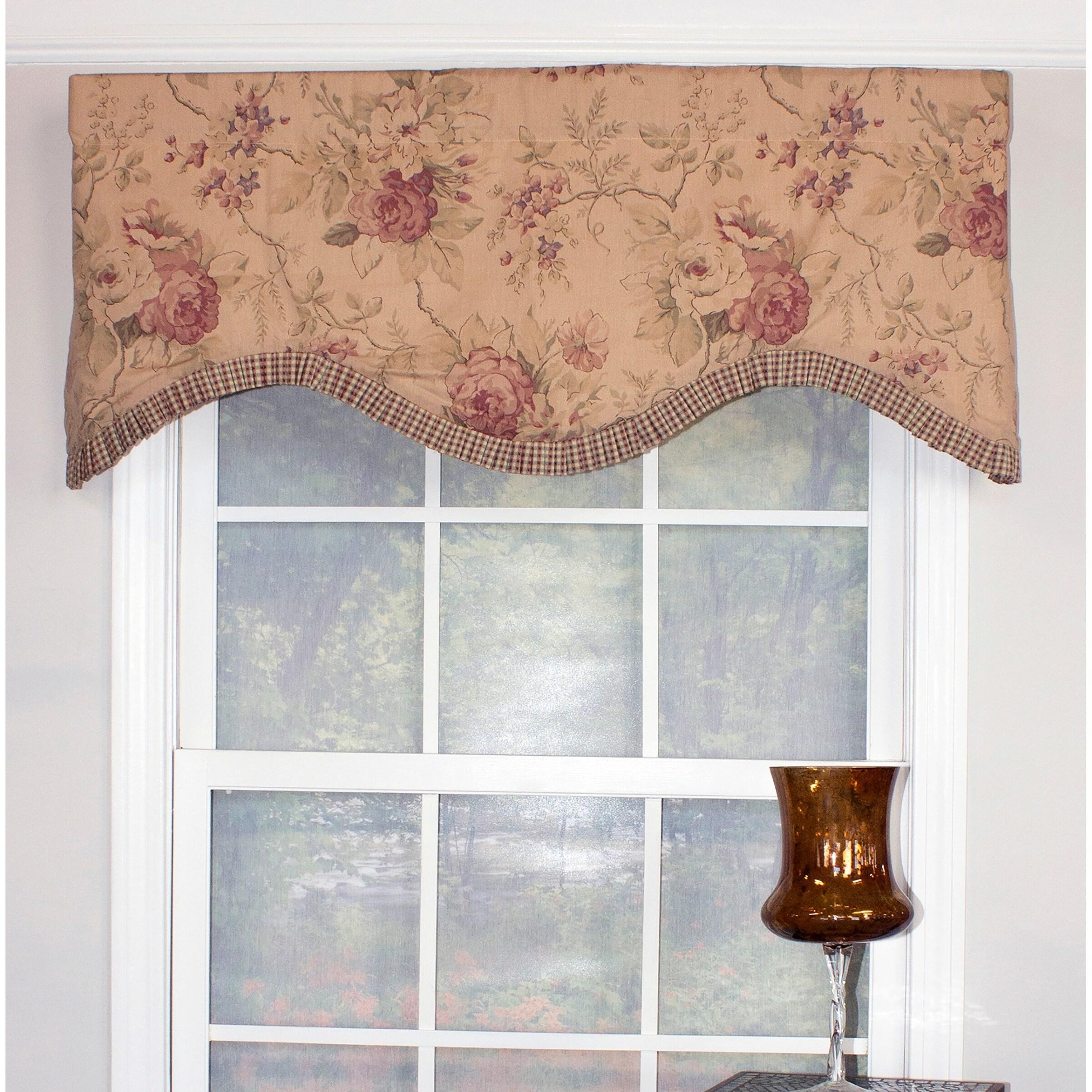 cornice window valance living room bay window shop rlf home doreen cornice window valance earth free shipping today overstockcom 7327185