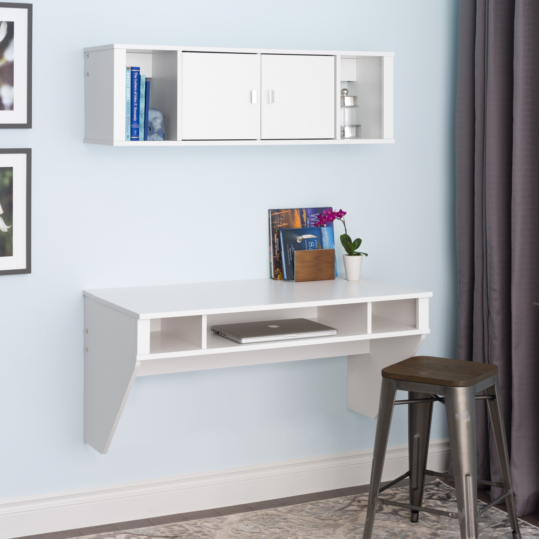 Prepac SOHO White Floating Desk - Free Shipping Today - Overstock.com -  14794492