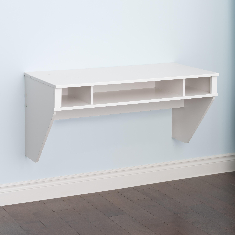 Shop Prepac SOHO White Floating Desk   Free Shipping Today   Overstock.com    7327331