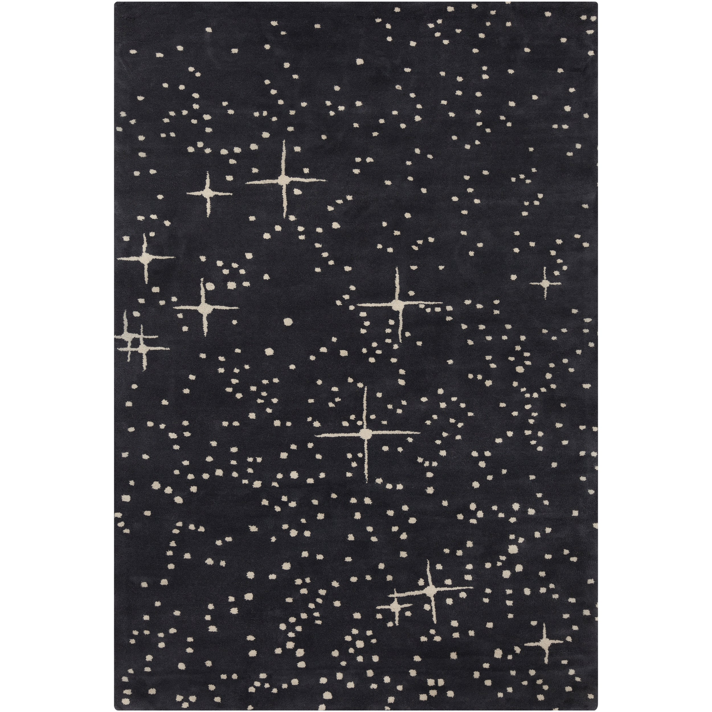Allie Handmade Abstract Black Wool Rug 5 X 7 6 Free Shipping Today 7329657